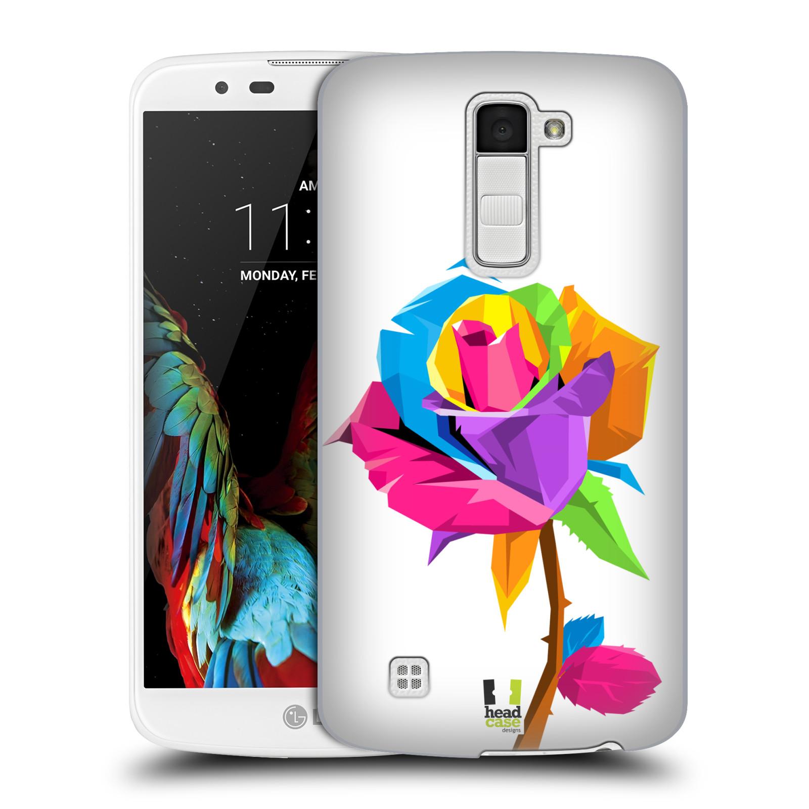 HEAD CASE plastový obal na mobil LG K10 vzor POP ART kubismus růže