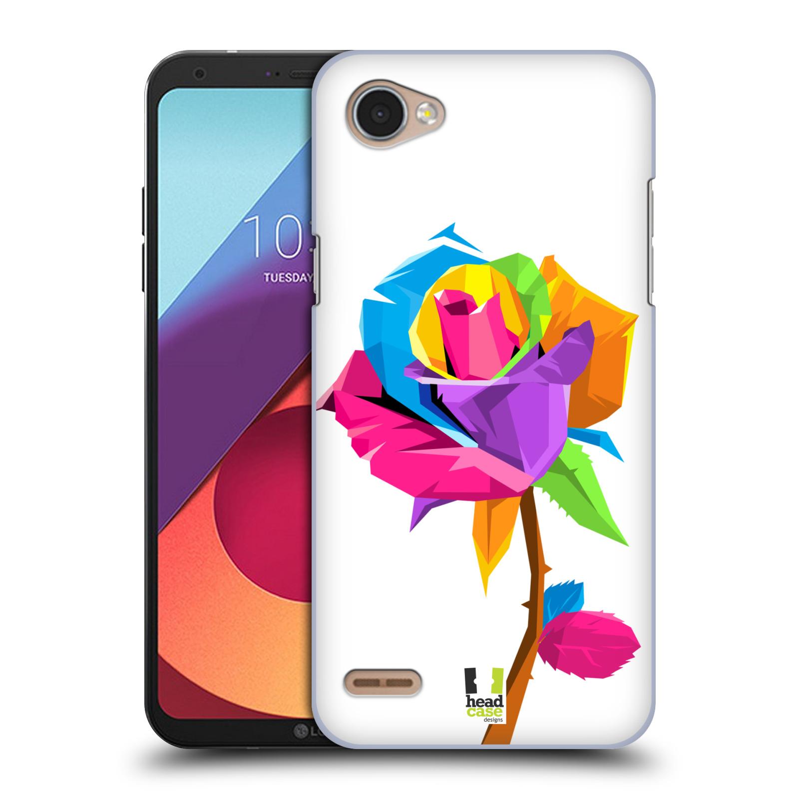 HEAD CASE plastový obal na mobil LG Q6 / Q6 PLUS vzor POP ART kubismus růže
