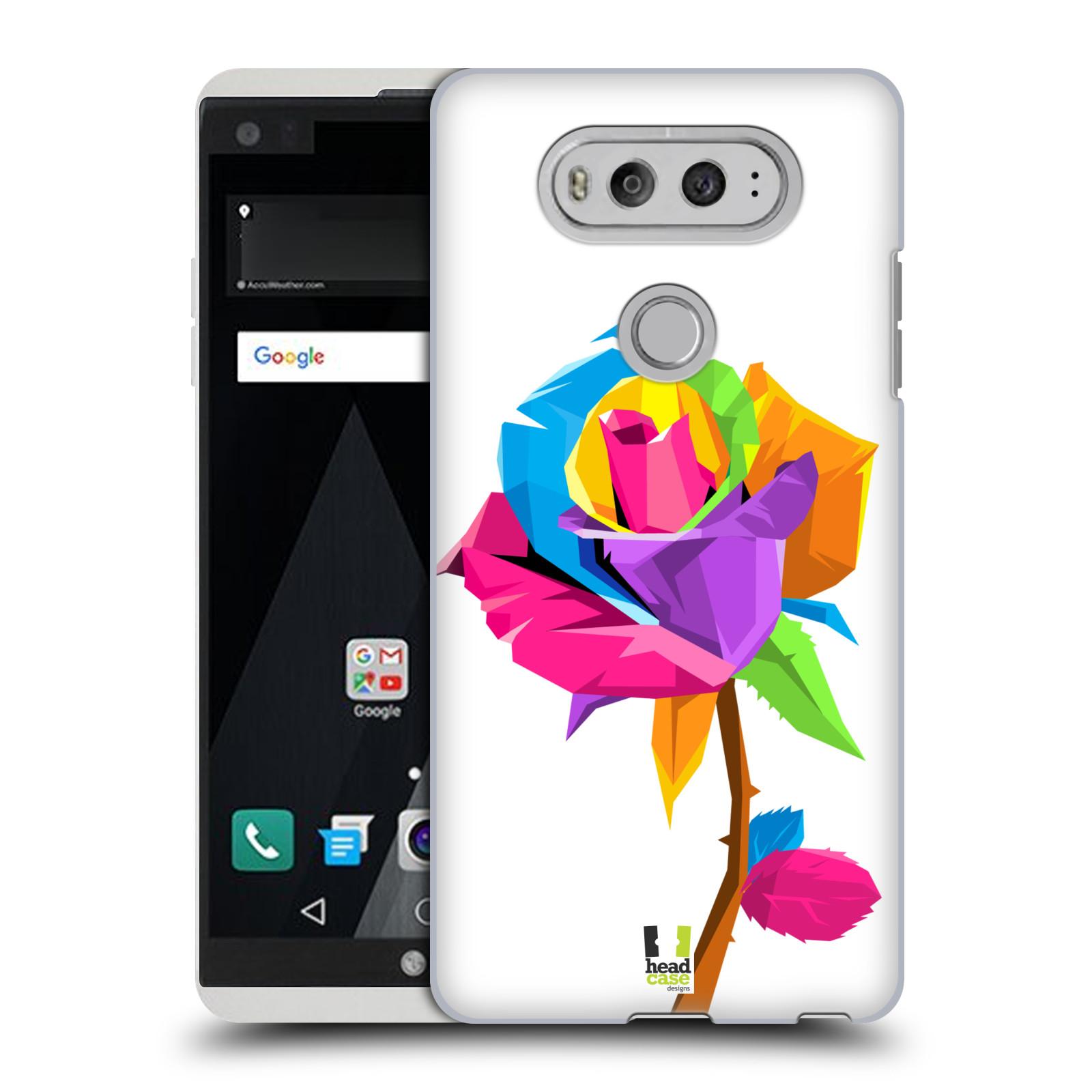 HEAD CASE plastový obal na mobil LG V20 vzor POP ART kubismus růže