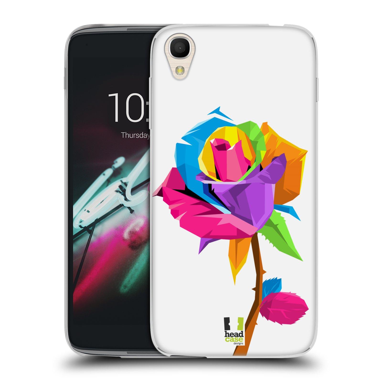 HEAD CASE silikonový obal na mobil Alcatel Idol 3 OT-6039Y (4.7) vzor POP ART kubismus růže