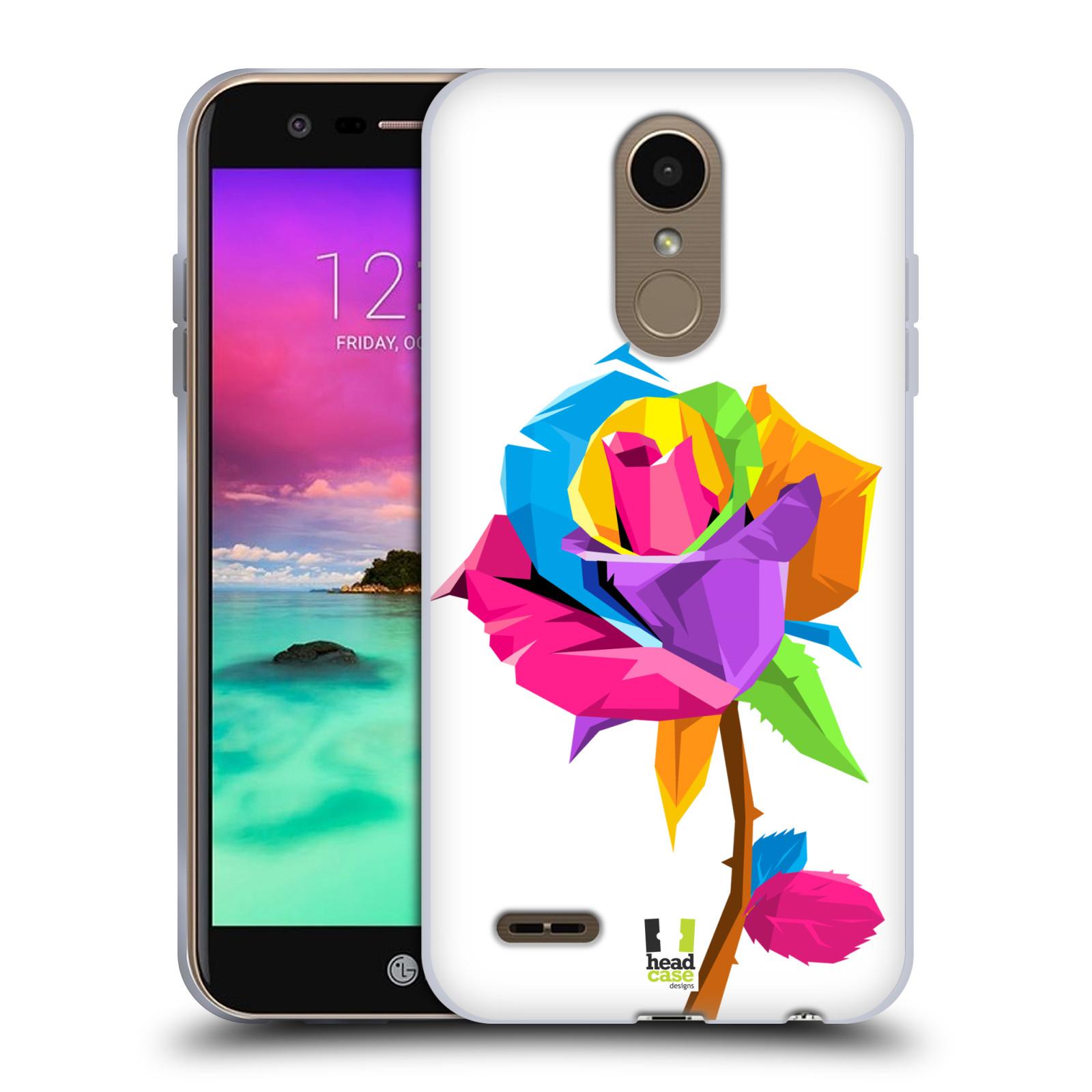 HEAD CASE silikonový obal na mobil LG K11 / K10 2018 vzor POP ART kubismus růže