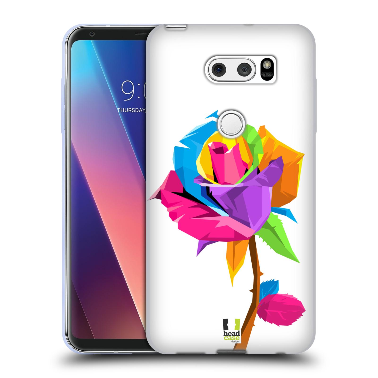 HEAD CASE silikonový obal na mobil LG V30 / V30 PLUS vzor POP ART kubismus růže