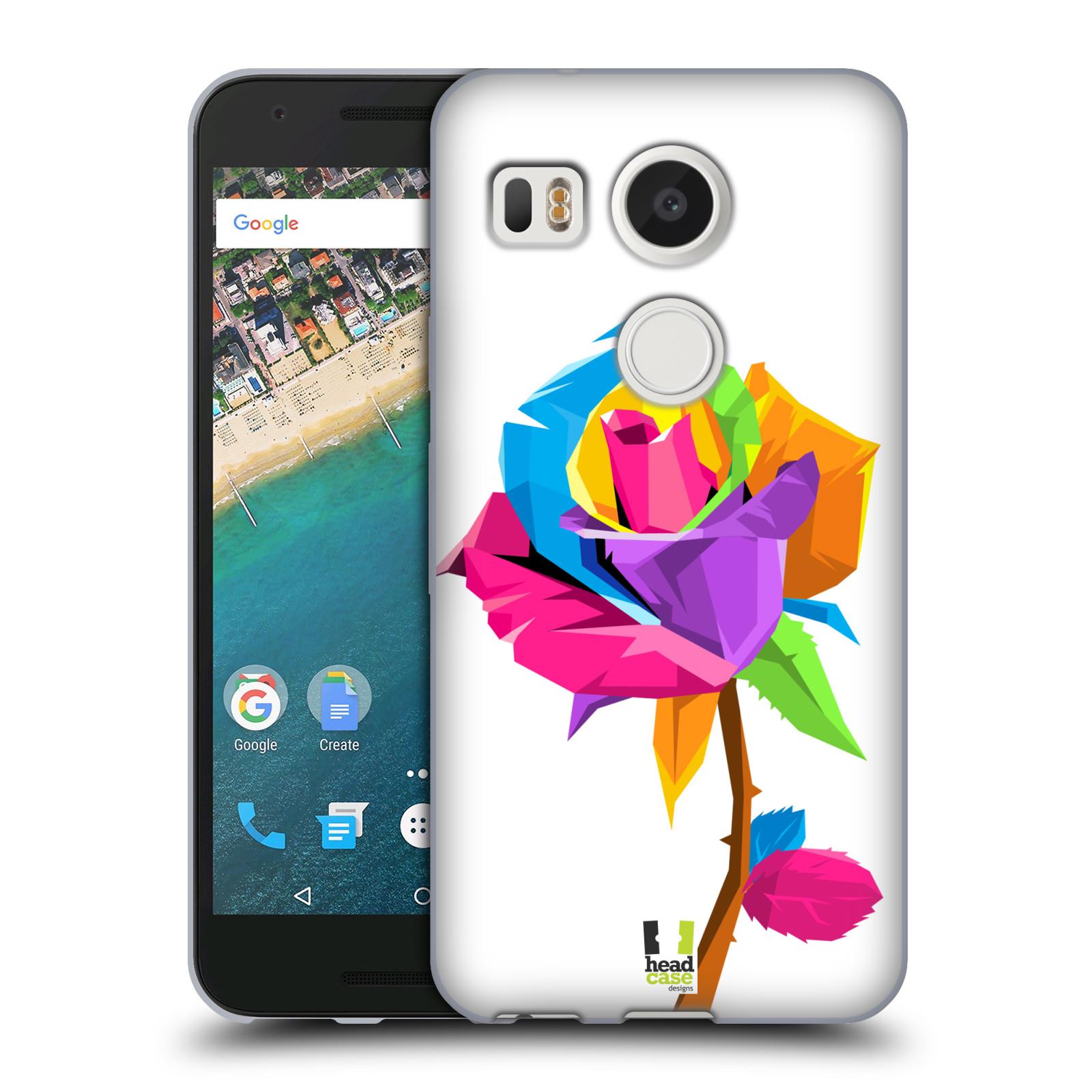 HEAD CASE silikonový obal na mobil LG NEXUS 5X vzor POP ART kubismus růže