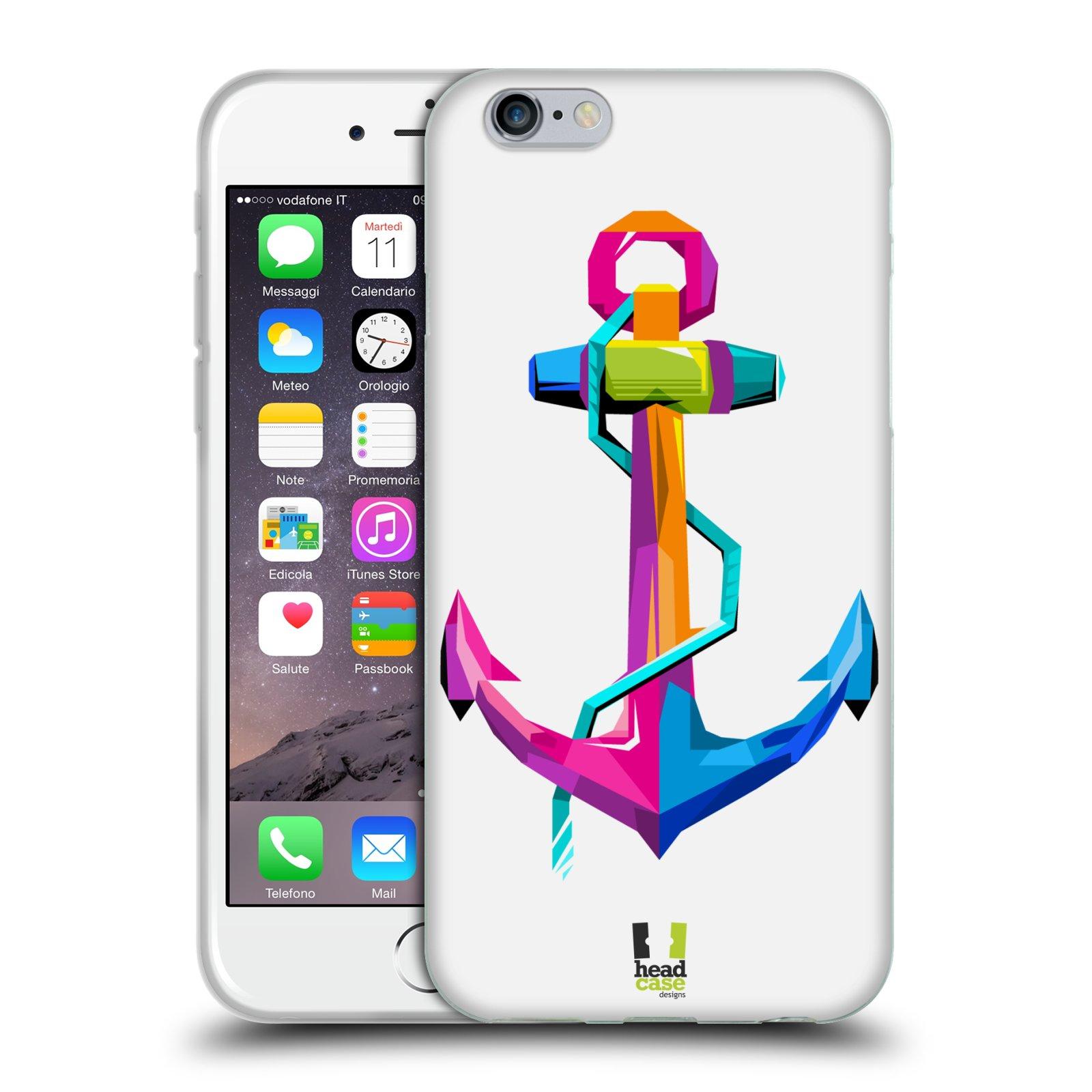 HEAD CASE silikonový obal na mobil Apple Iphone 6/6S vzor POP ART kubismus kotva naděje