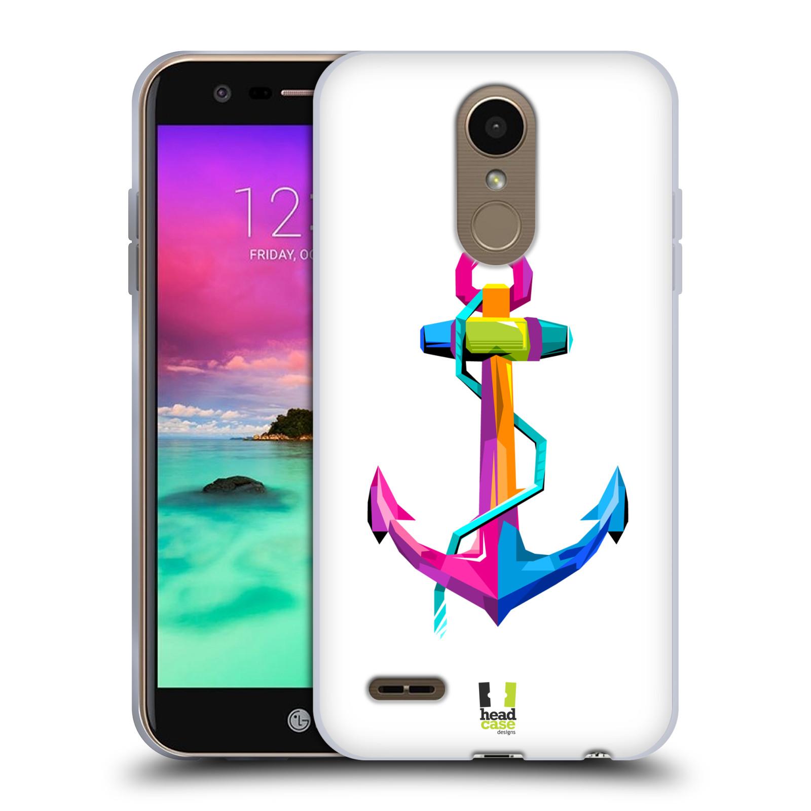 HEAD CASE silikonový obal na mobil LG K11 / K10 2018 vzor POP ART kubismus kotva naděje