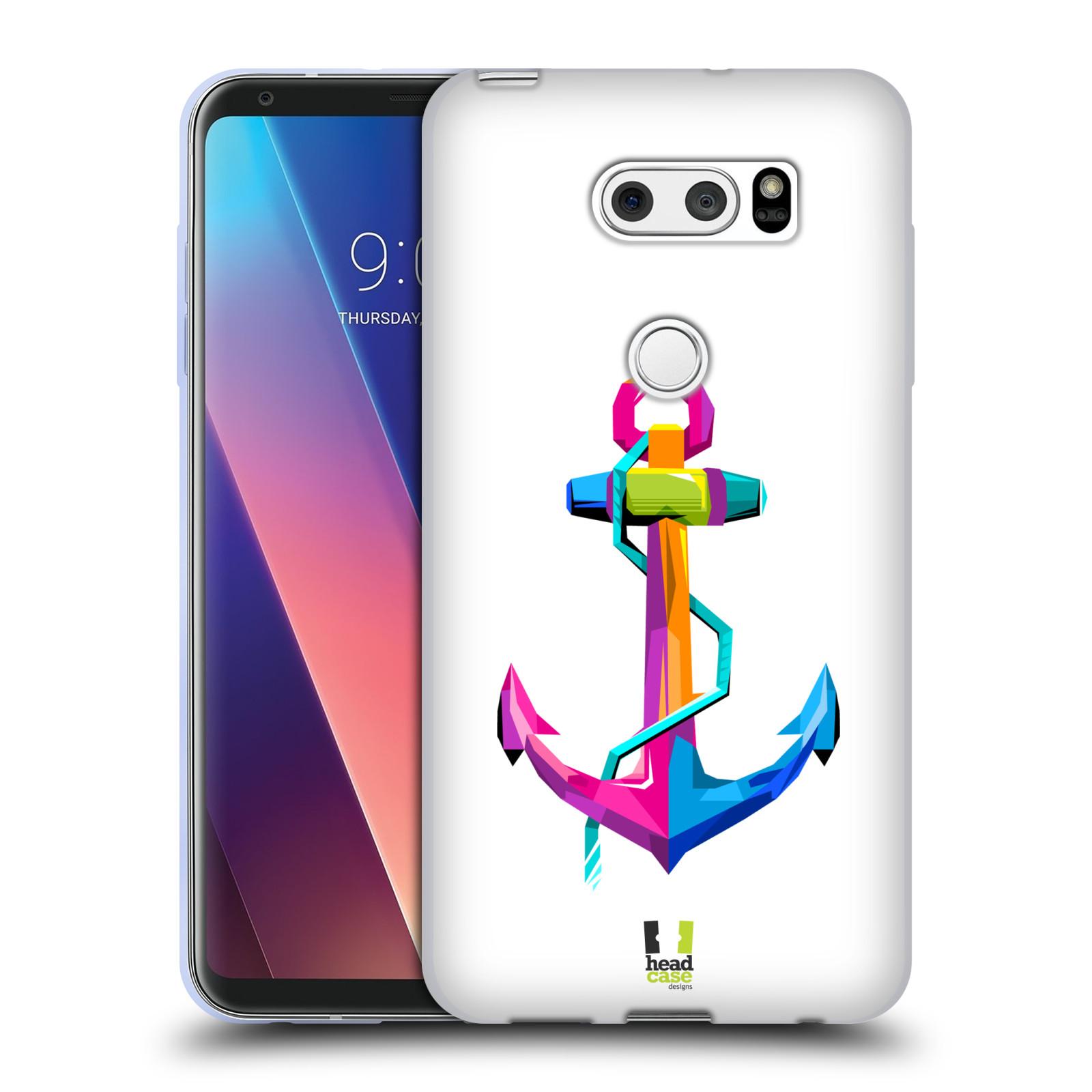 HEAD CASE silikonový obal na mobil LG V30 / V30 PLUS vzor POP ART kubismus kotva naděje
