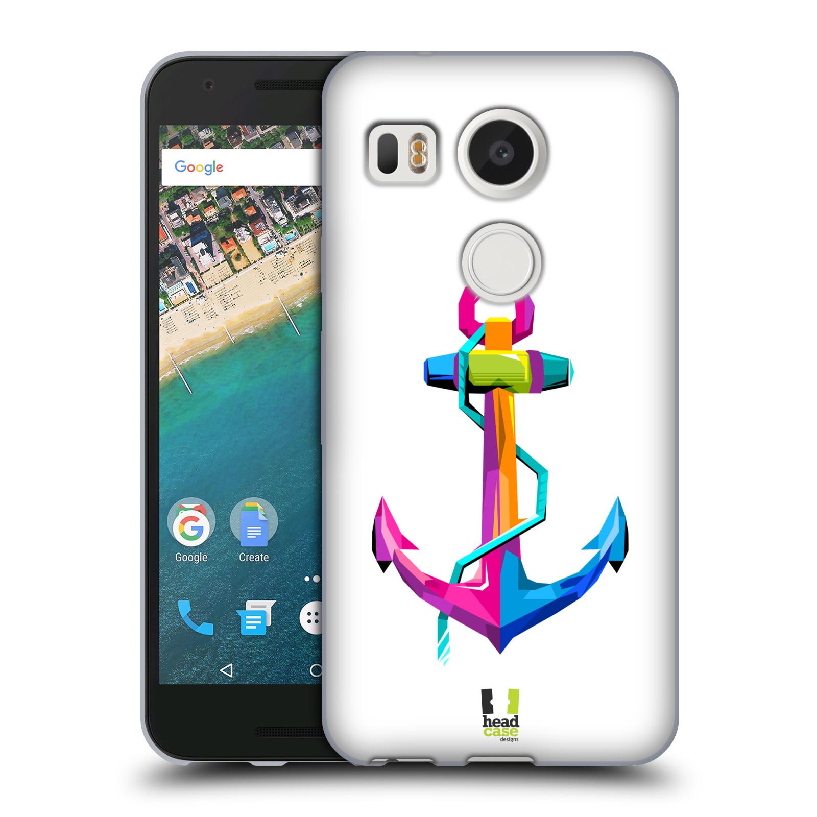 HEAD CASE silikonový obal na mobil LG NEXUS 5X vzor POP ART kubismus kotva naděje