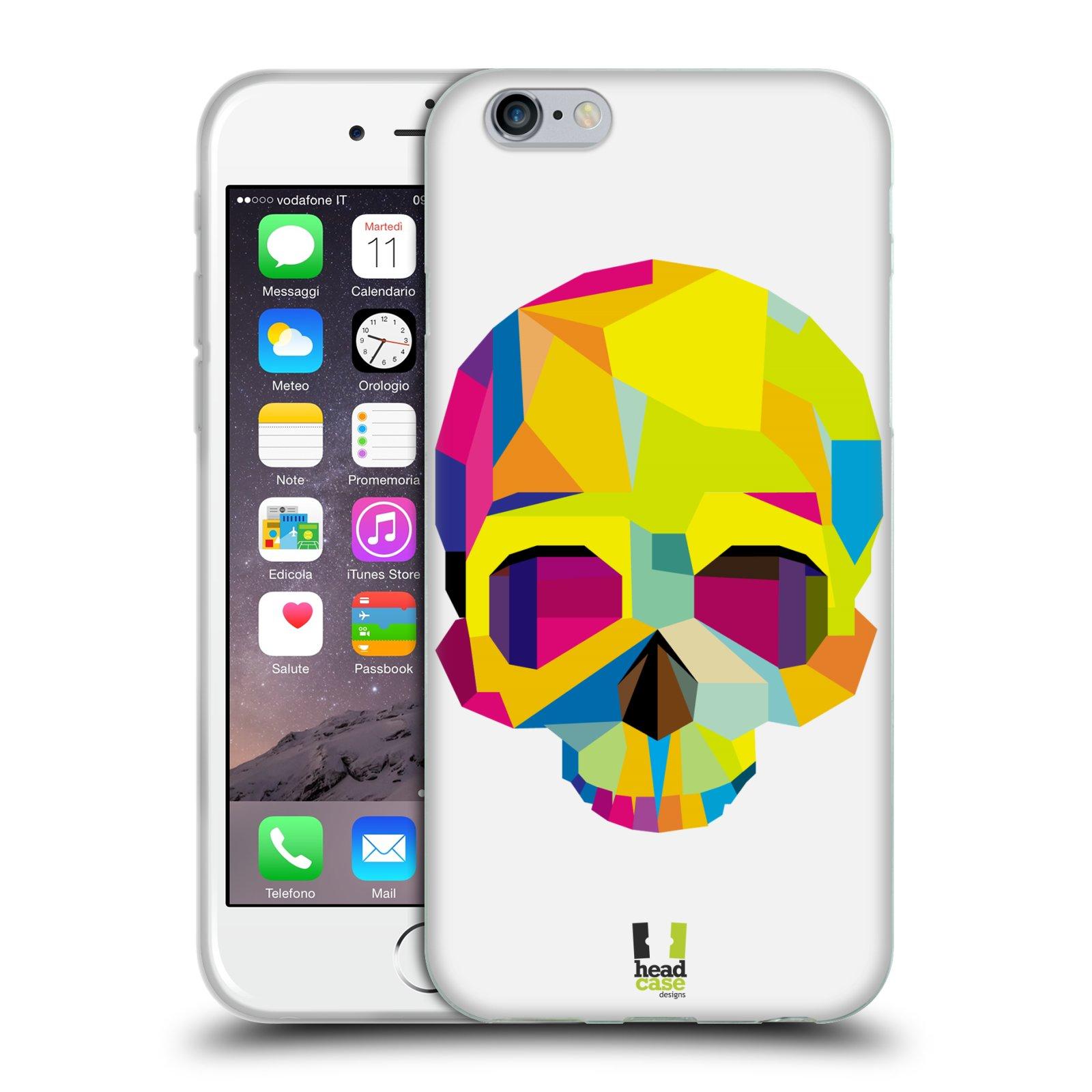 HEAD CASE silikonový obal na mobil Apple Iphone 6/6S vzor POP ART kubismus smrtelnost