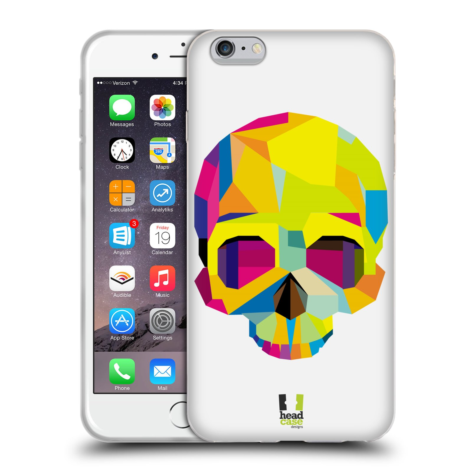 HEAD CASE silikonový obal na mobil Apple Iphone 6 PLUS/ 6S PLUS vzor POP ART kubismus smrtelnost