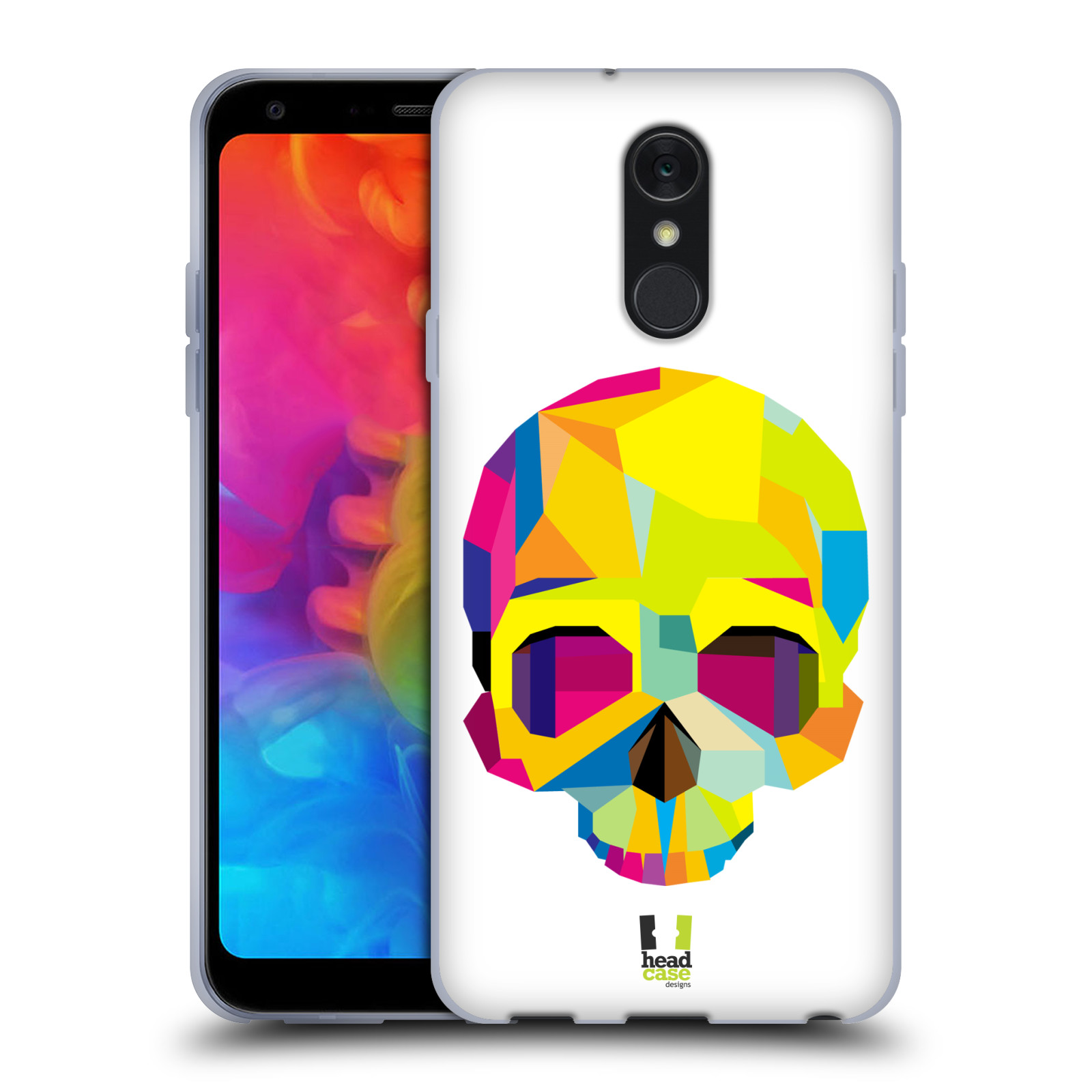 Pouzdro na mobil LG Q7 - HEAD CASE - POP ART kubismus smrtelnost