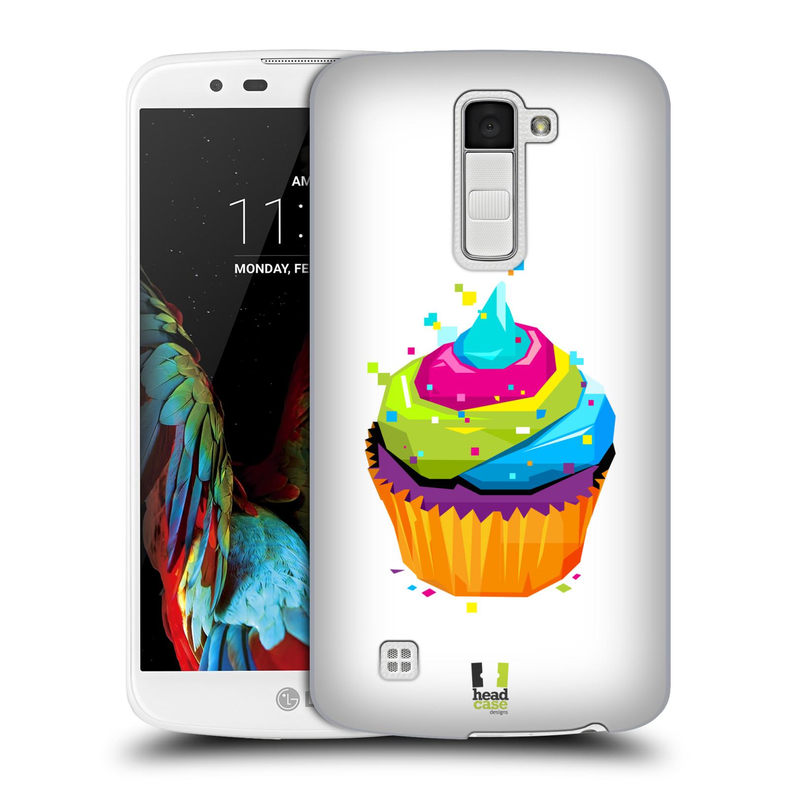 HEAD CASE plastový obal na mobil LG K10 vzor POP ART kubismus dortík