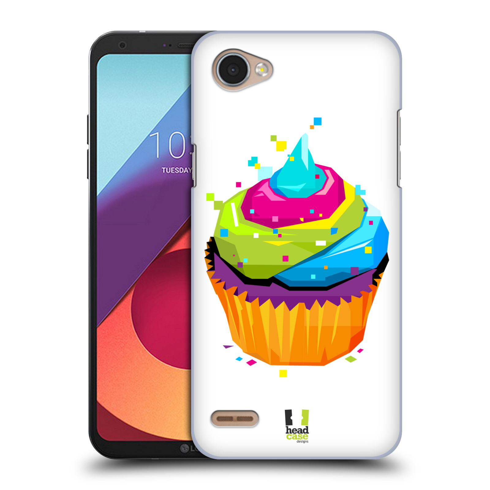 HEAD CASE plastový obal na mobil LG Q6 / Q6 PLUS vzor POP ART kubismus dortík