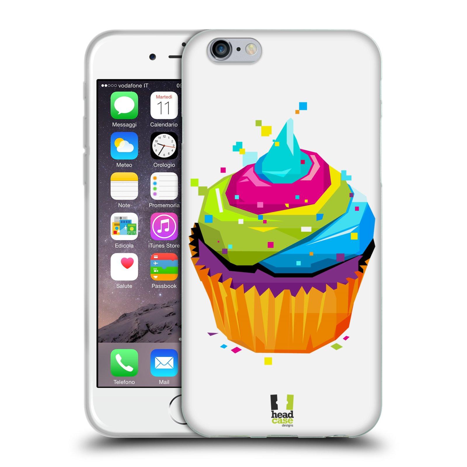 HEAD CASE silikonový obal na mobil Apple Iphone 6/6S vzor POP ART kubismus dortík