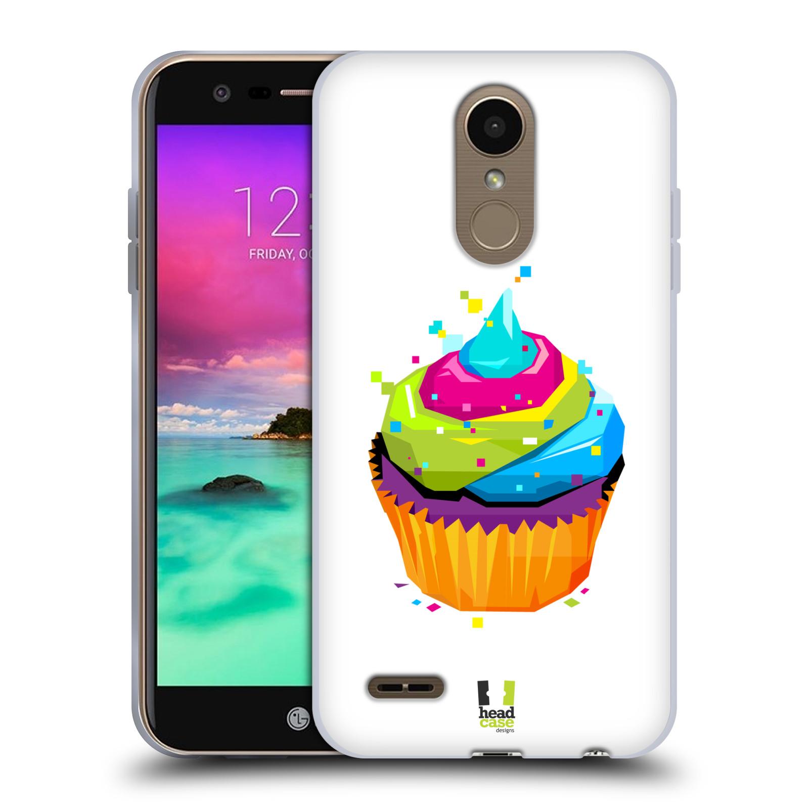 HEAD CASE silikonový obal na mobil LG K11 / K10 2018 vzor POP ART kubismus dortík
