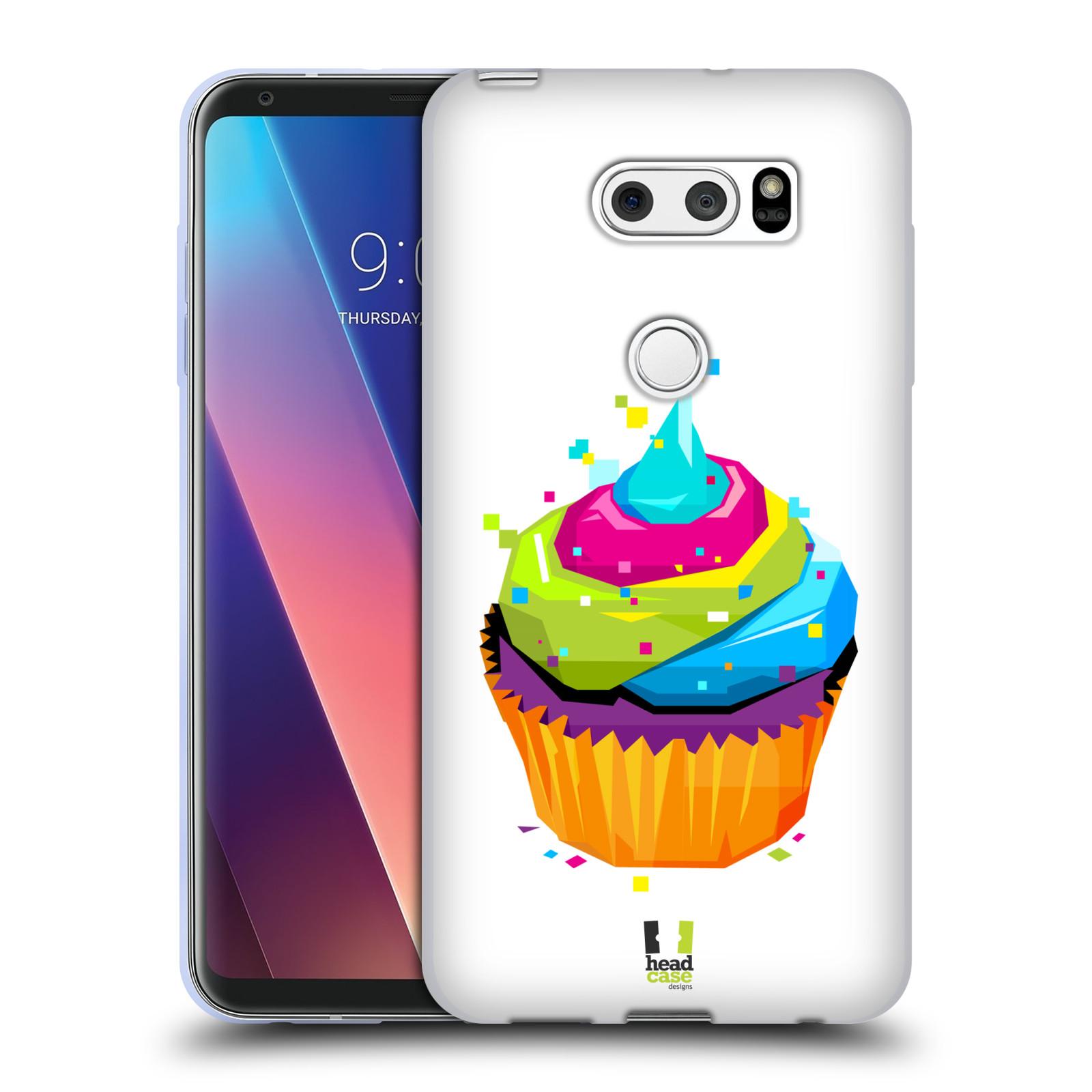 HEAD CASE silikonový obal na mobil LG V30 / V30 PLUS vzor POP ART kubismus dortík