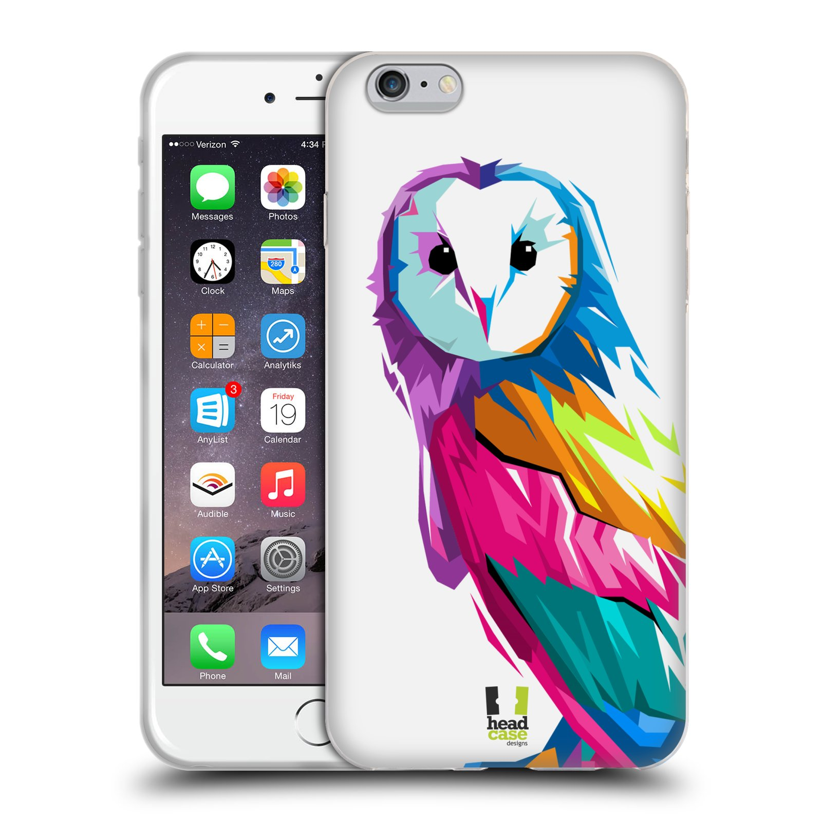 HEAD CASE silikonový obal na mobil Apple Iphone 6 PLUS/ 6S PLUS vzor POP ART kubismus SOVA