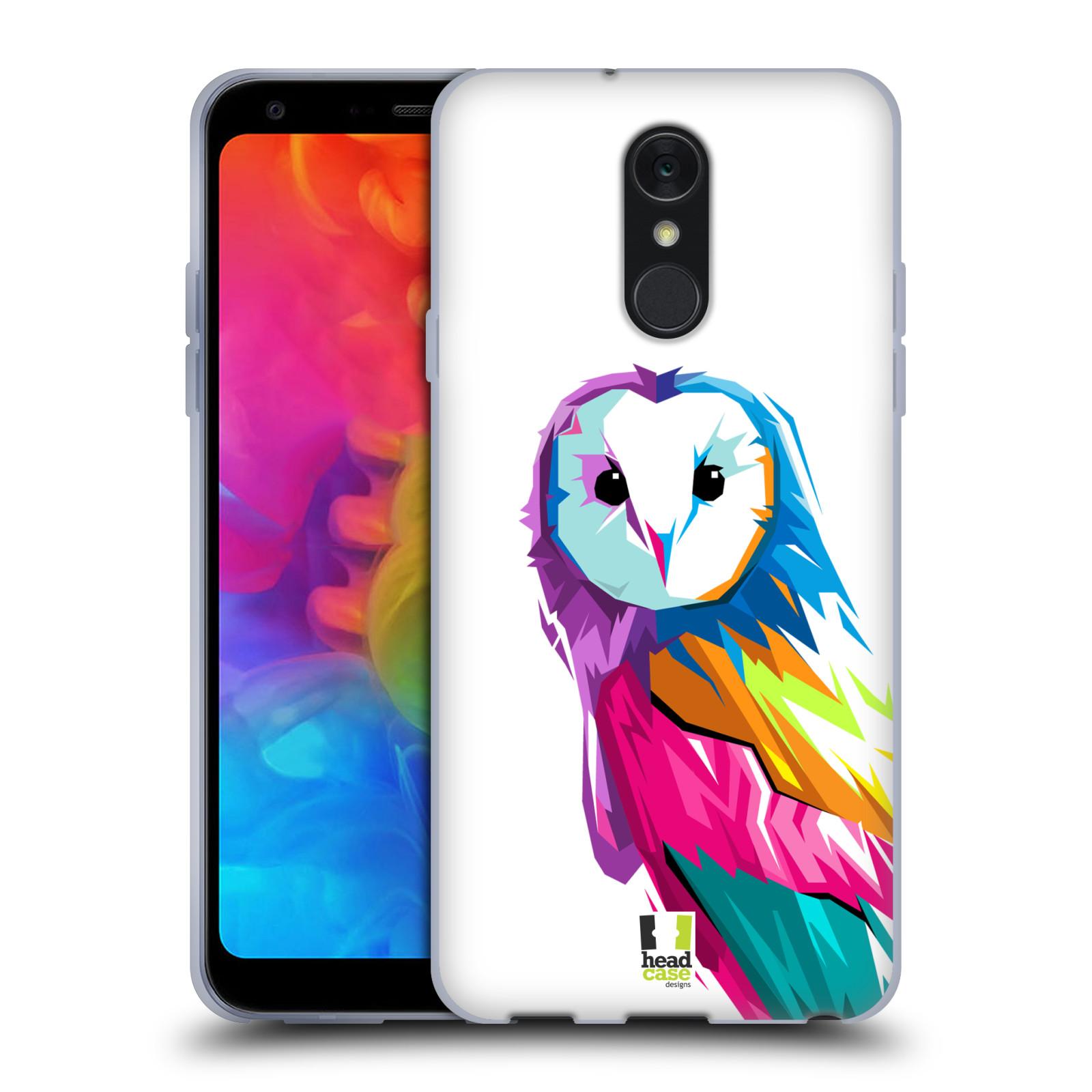 Pouzdro na mobil LG Q7 - HEAD CASE - POP ART kubismus SOVA