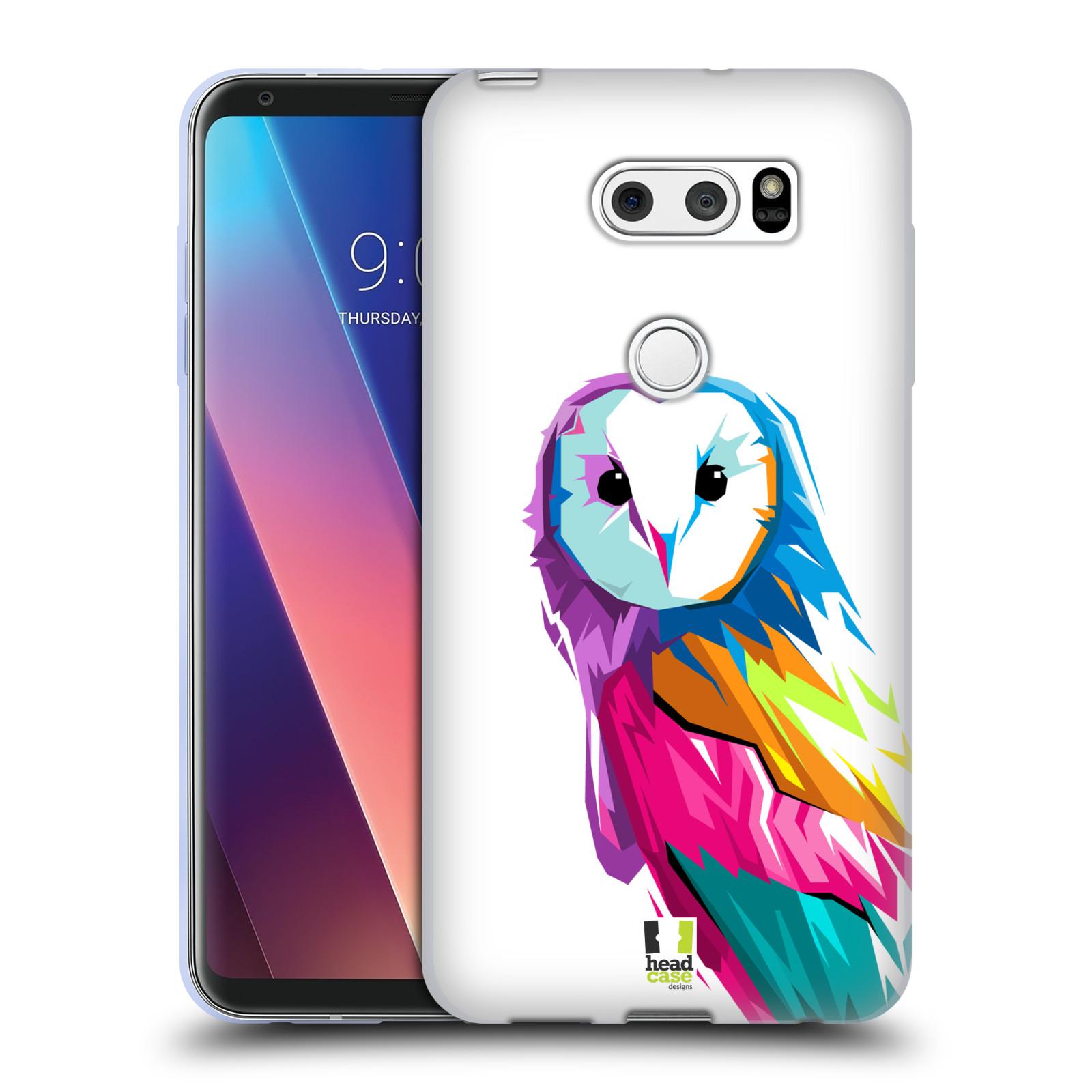 HEAD CASE silikonový obal na mobil LG V30 / V30 PLUS vzor POP ART kubismus SOVA