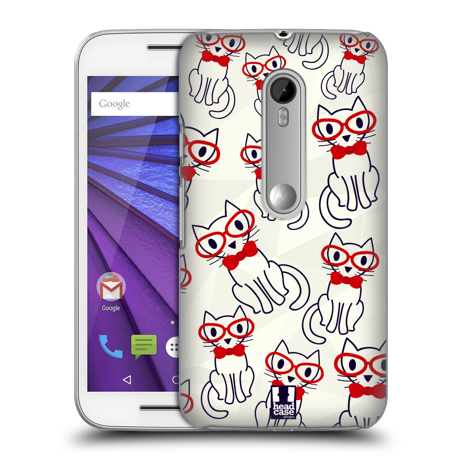Head case designs cute geeky hard back case for motorola for Cell phone cover design ideas