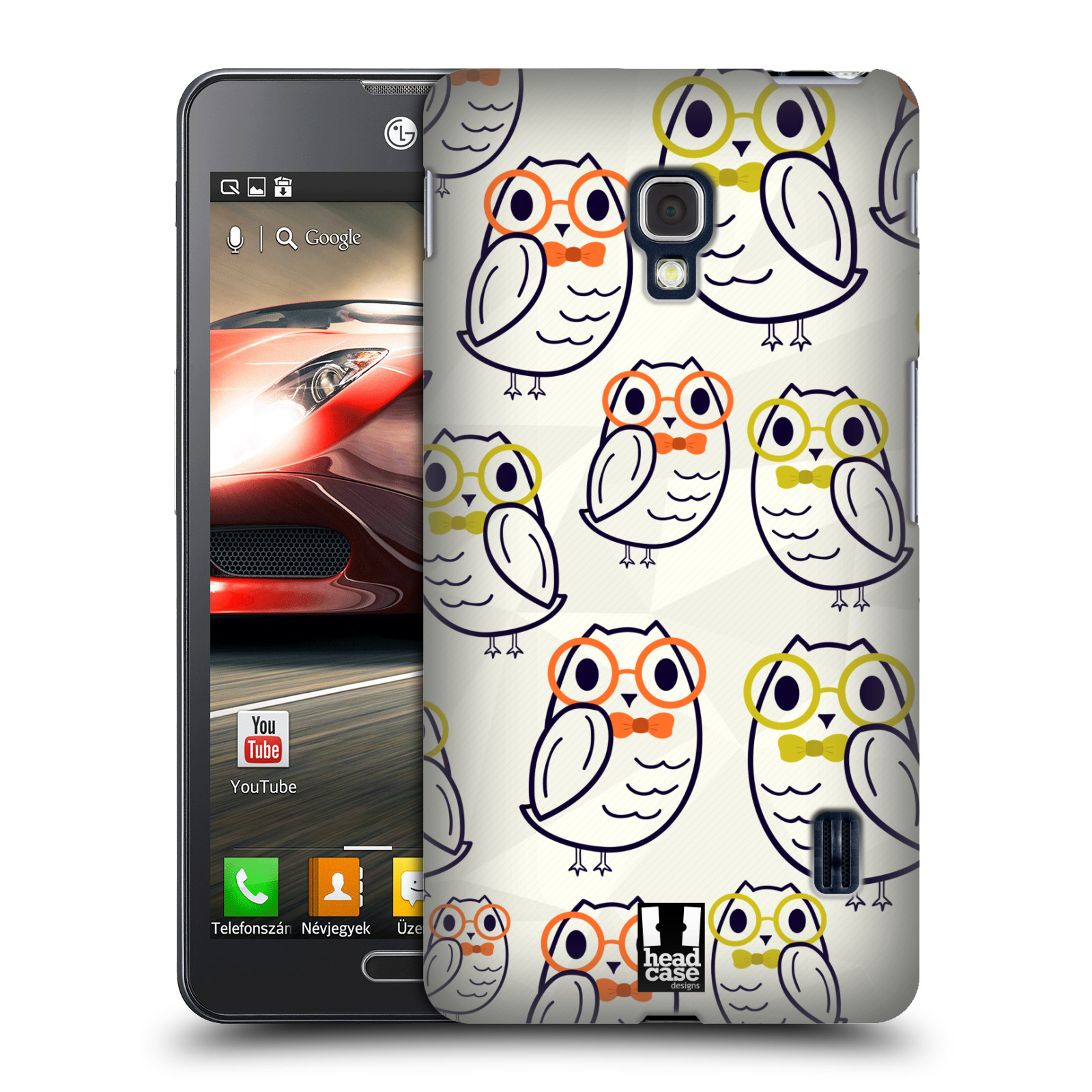 Head case designs cute geeky hard back case for lg for Case design