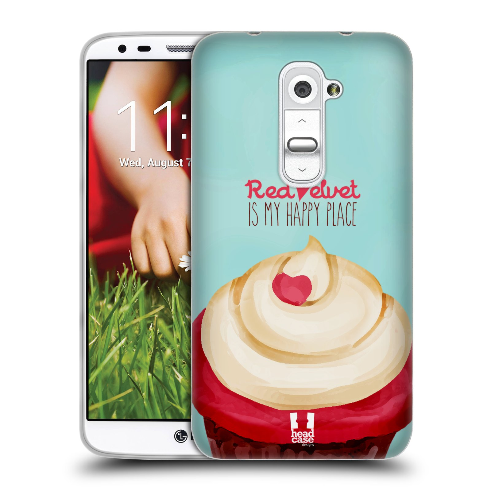 HEAD CASE CUPCAKE HAPPINESS GEL BACK CASE COVER FOR LG G2 D802