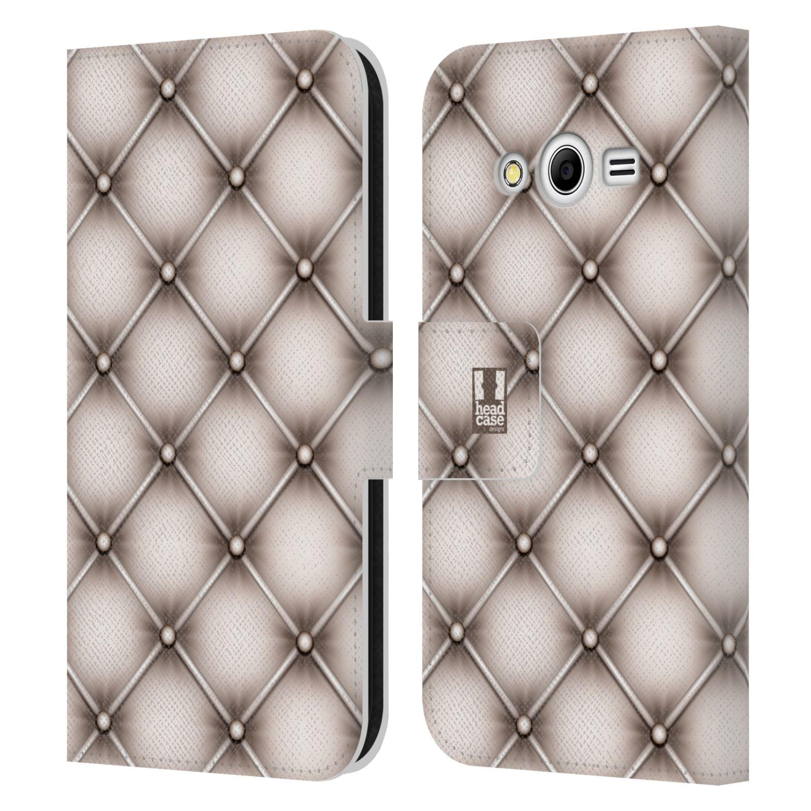 head case designs kissen brieftasche h lle aus leder f r samsung galaxy core 2 ebay. Black Bedroom Furniture Sets. Home Design Ideas