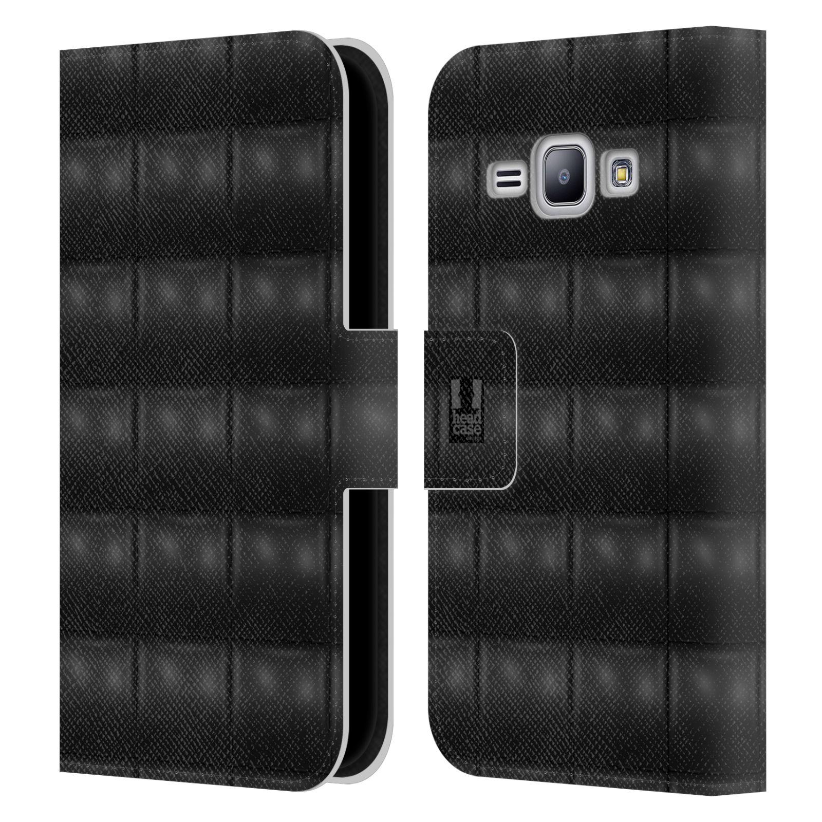 head case designs kissen brieftasche handyh lle aus leder f r samsung galaxy j1 ebay. Black Bedroom Furniture Sets. Home Design Ideas
