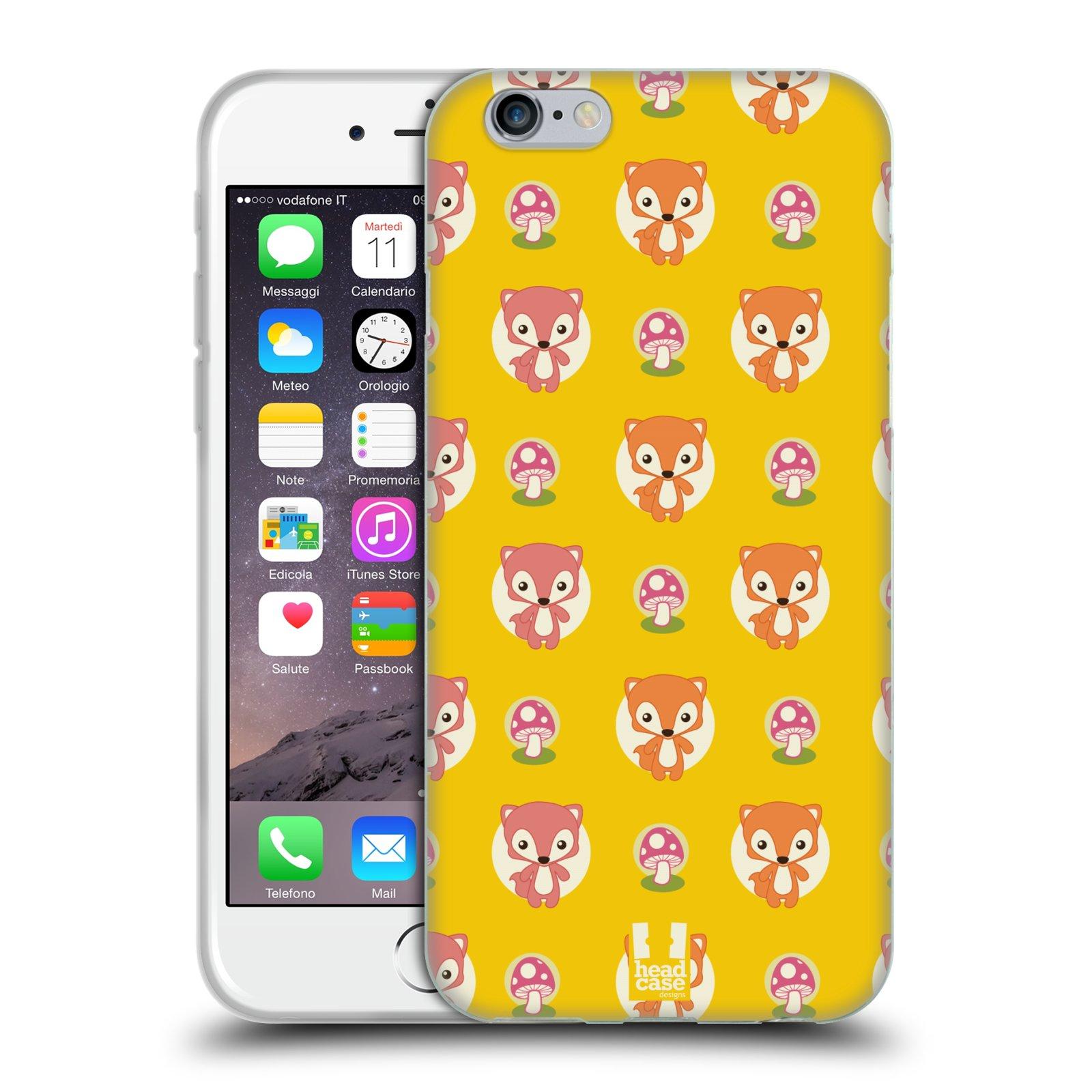 HEAD CASE silikonový obal na mobil Apple Iphone 6/6S vzor roztomilé zvířecí vzory lištičky