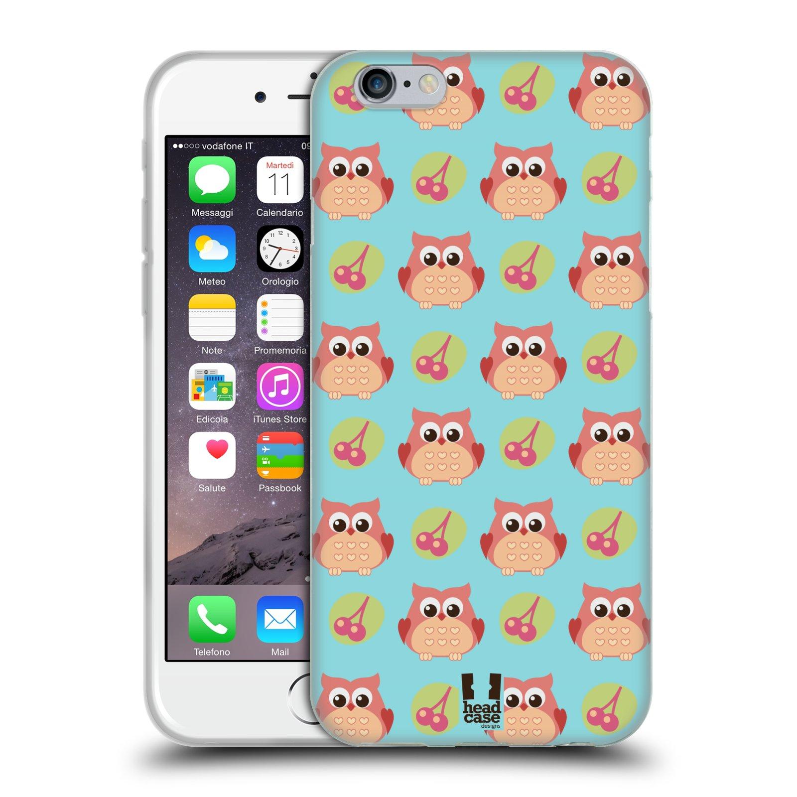 HEAD CASE silikonový obal na mobil Apple Iphone 6/6S vzor roztomilé zvířecí vzory sovičky