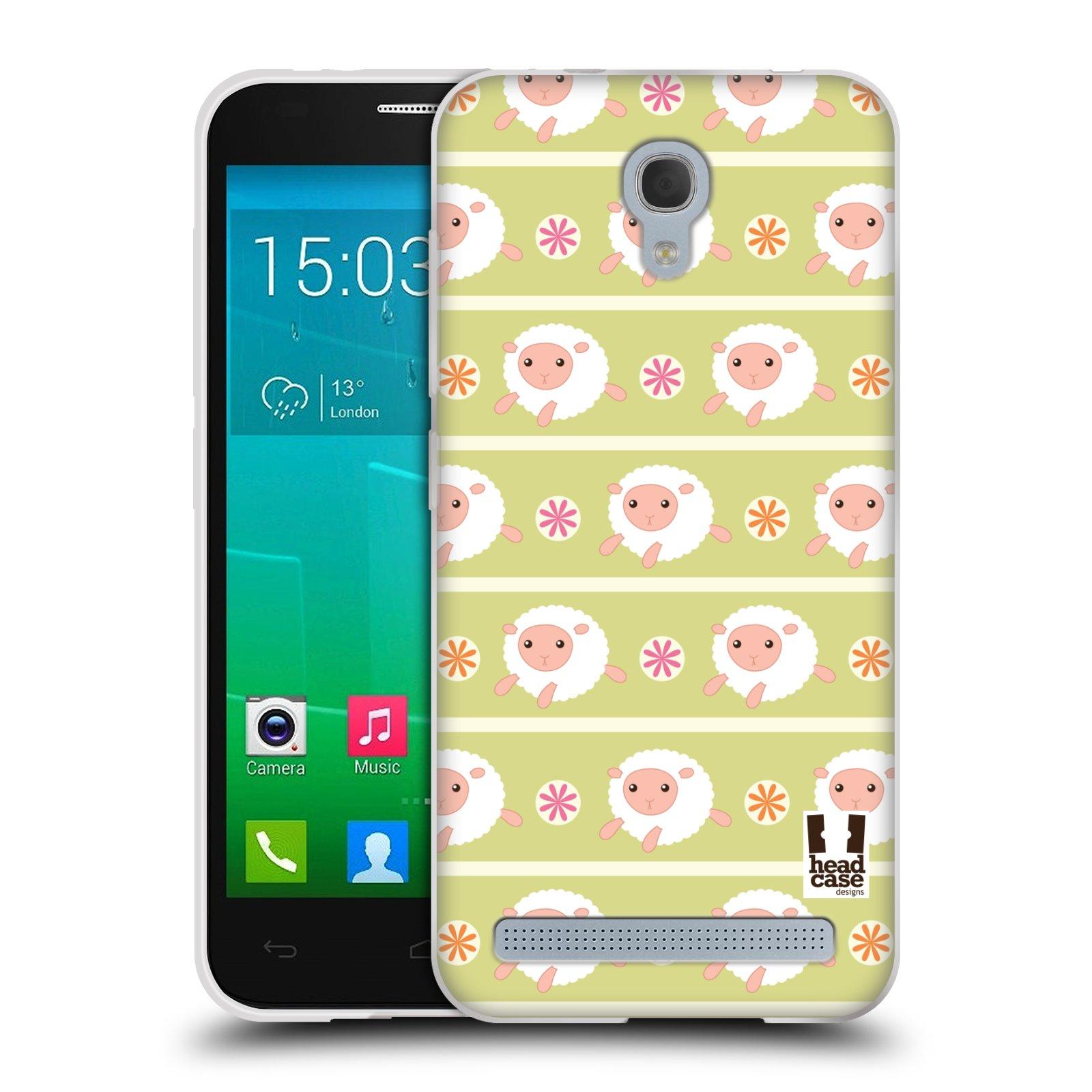 HEAD CASE silikonový obal na mobil Alcatel Idol 2 MINI S 6036Y vzor roztomilé zvířecí vzory ovečky