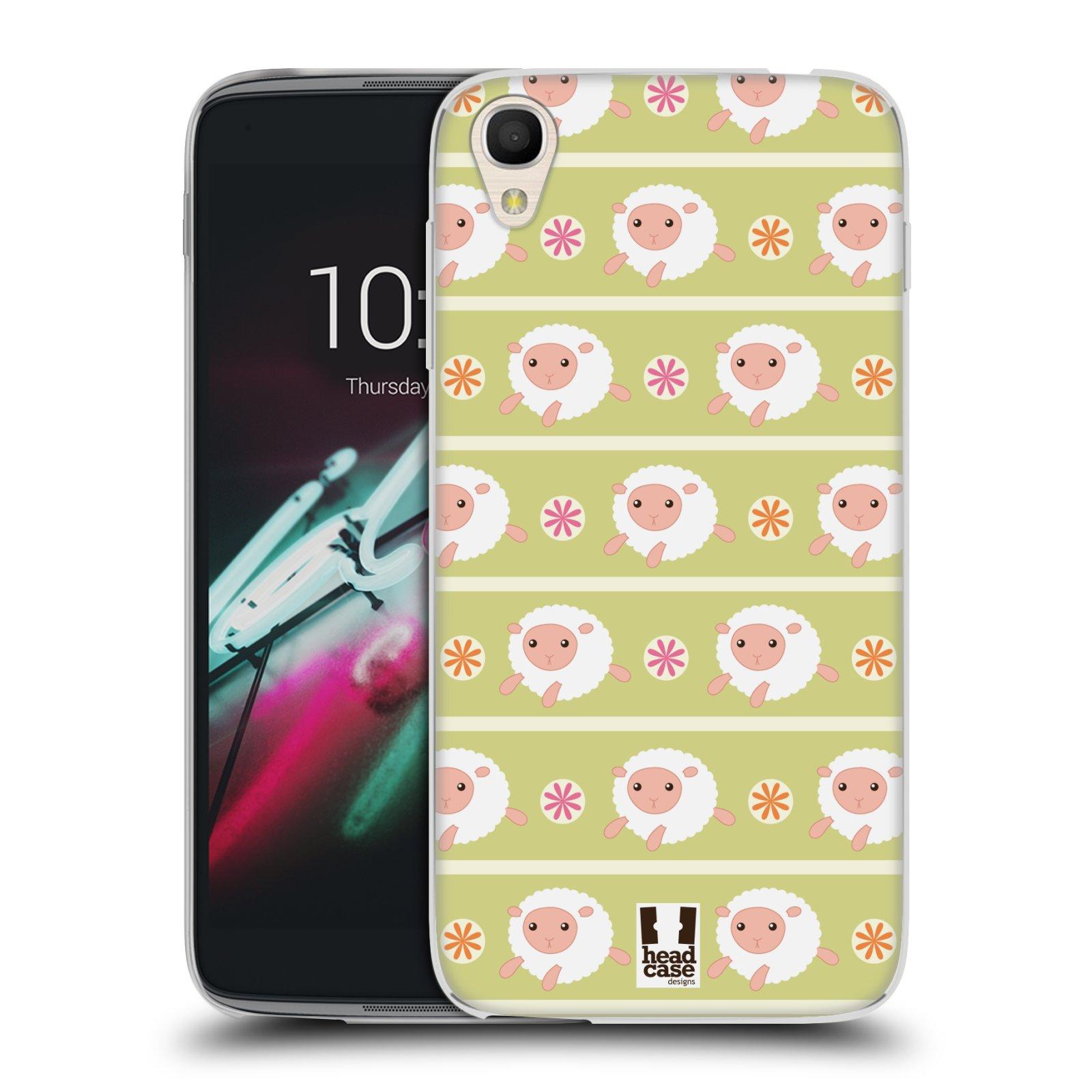 HEAD CASE silikonový obal na mobil Alcatel Idol 3 OT-6039Y (4.7) vzor roztomilé zvířecí vzory ovečky