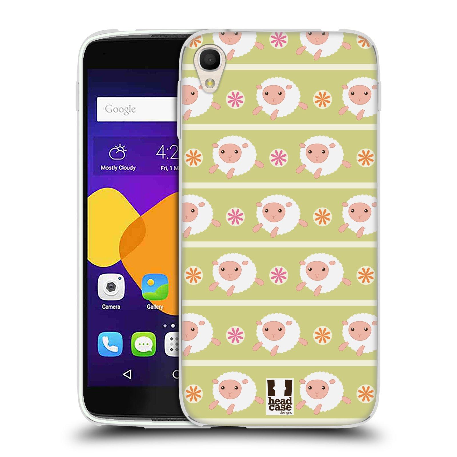 HEAD CASE silikonový obal na mobil Alcatel Idol 3 OT-6045Y (5.5) vzor roztomilé zvířecí vzory ovečky