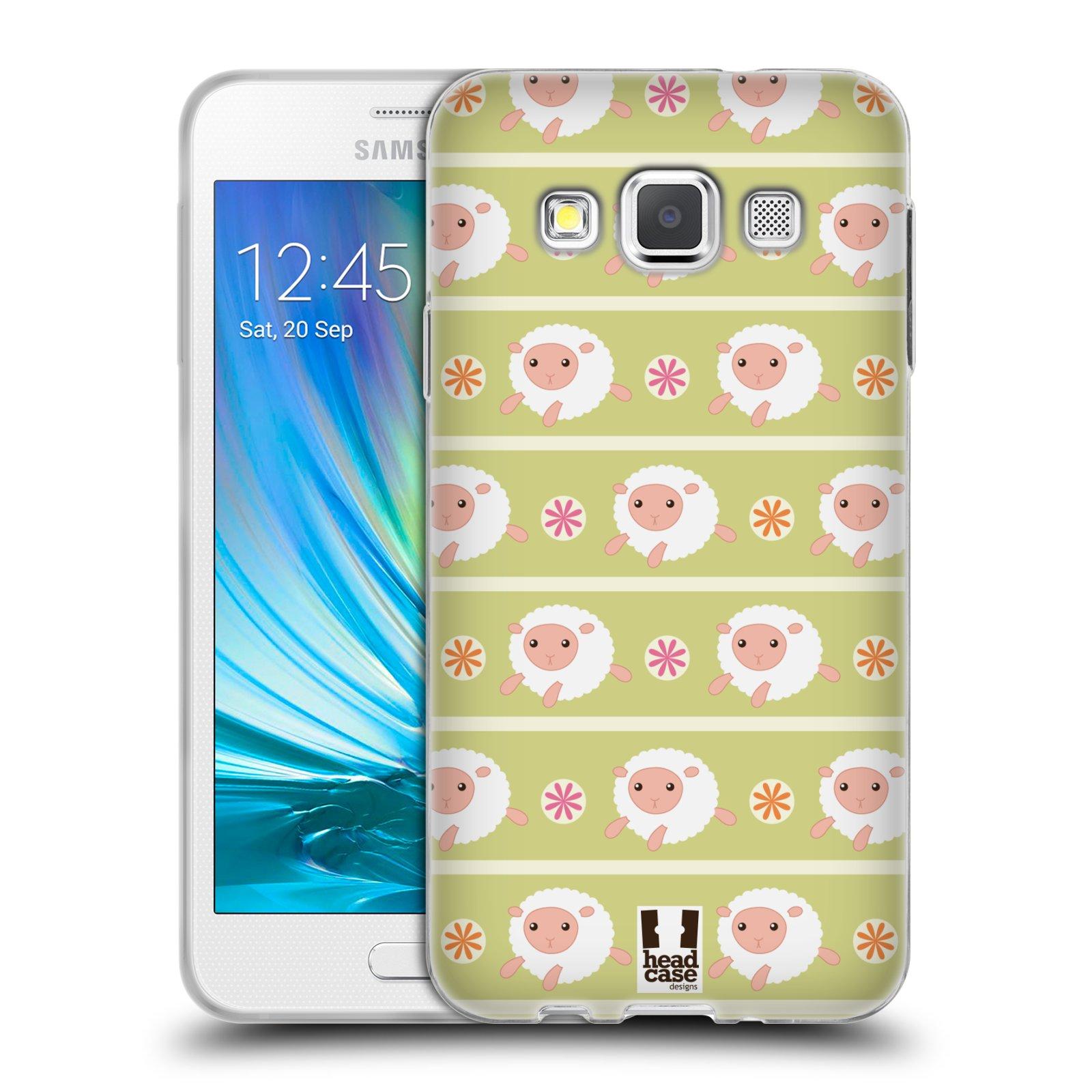 HEAD CASE silikonový obal na mobil Samsung Galaxy A3 vzor roztomilé zvířecí vzory ovečky