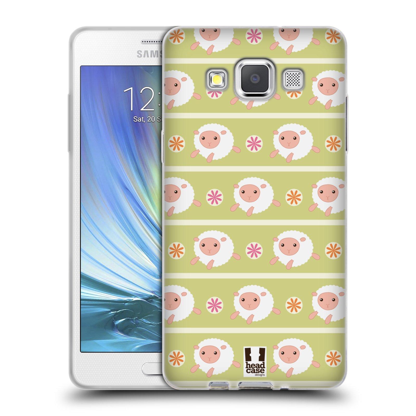 HEAD CASE silikonový obal na mobil Samsung Galaxy A5 vzor roztomilé zvířecí vzory ovečky
