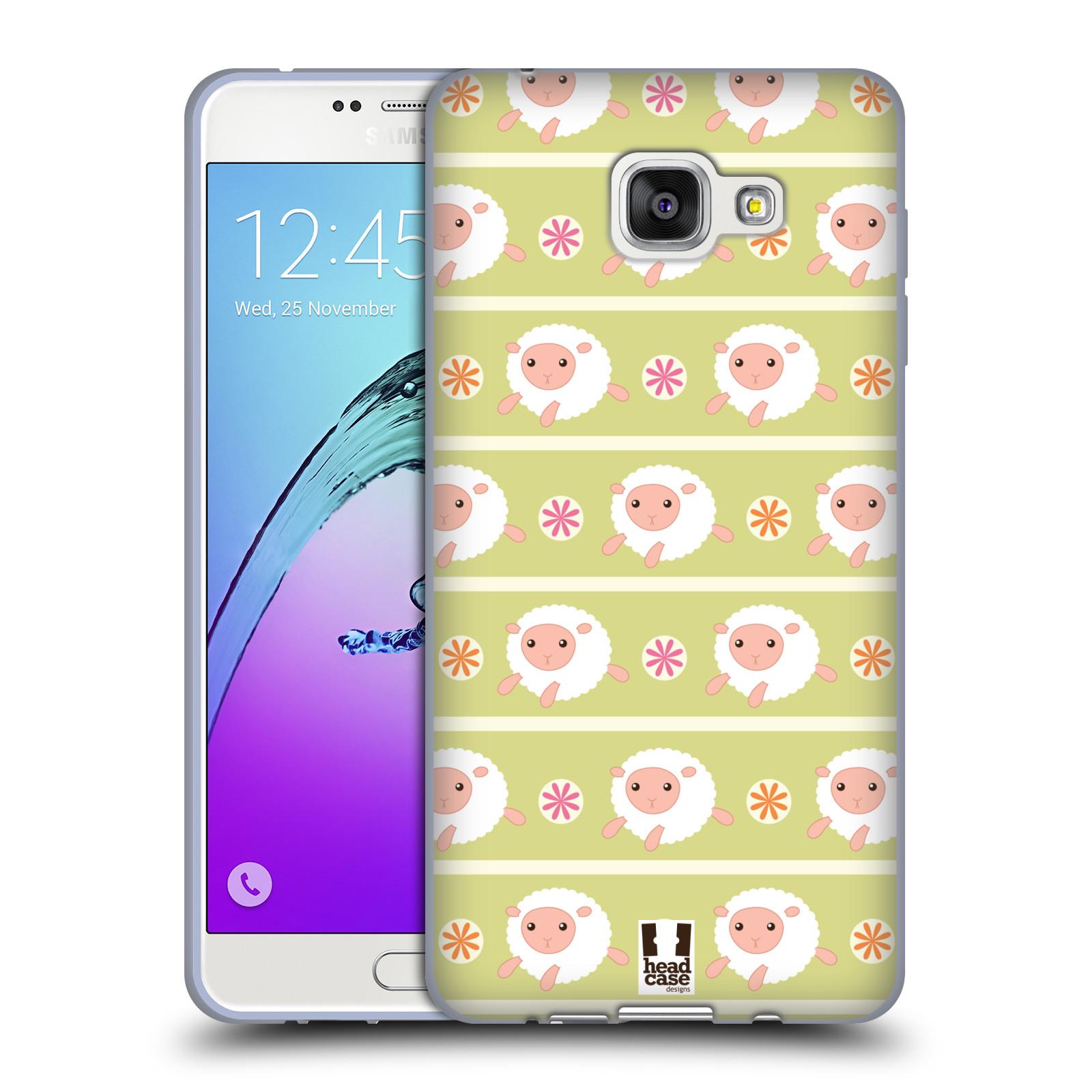 HEAD CASE silikonový obal na mobil Samsung Galaxy A7 (2016) vzor roztomilé zvířecí vzory ovečky