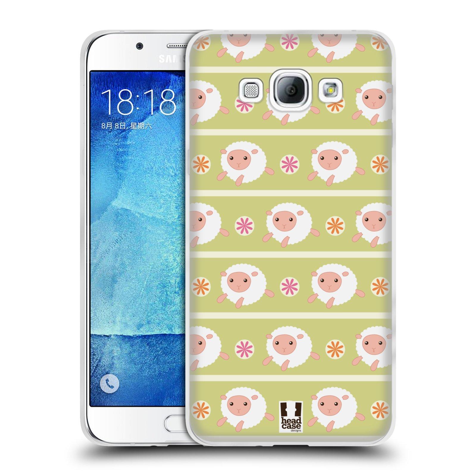 HEAD CASE silikonový obal na mobil Samsung Galaxy A8 vzor roztomilé zvířecí vzory ovečky