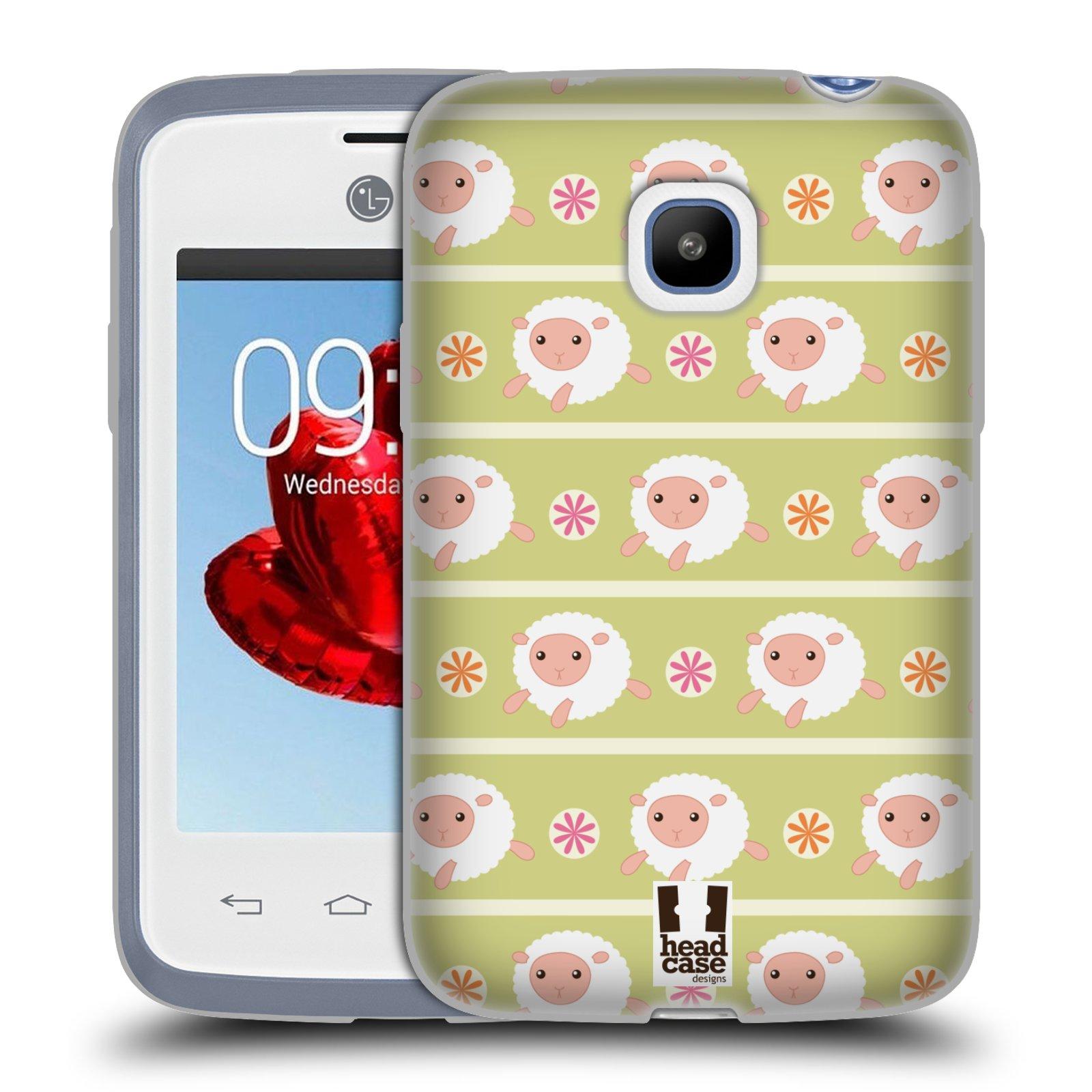 HEAD CASE silikonový obal na mobil LG L20 vzor roztomilé zvířecí vzory ovečky