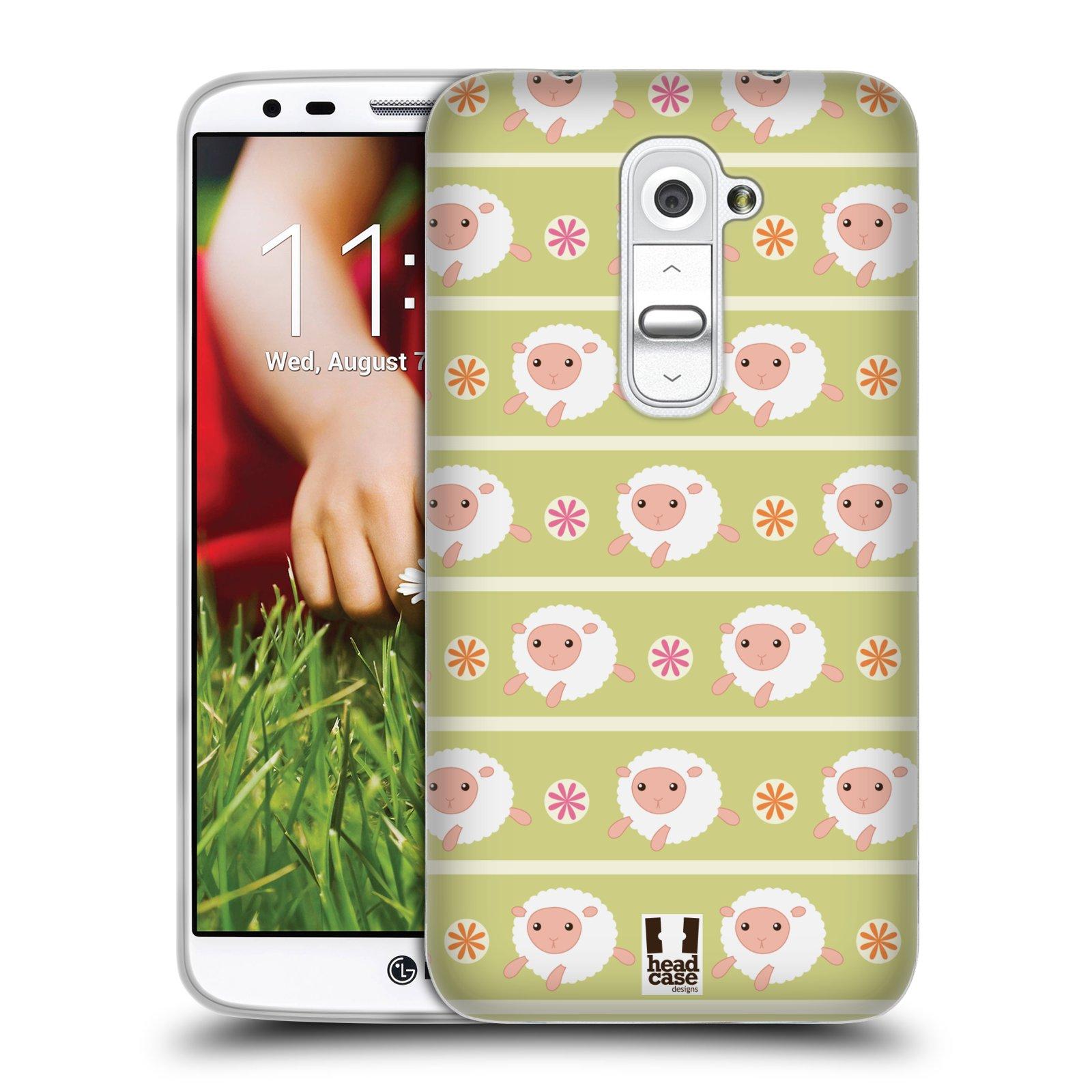 HEAD CASE silikonový obal na mobil LG G2 vzor roztomilé zvířecí vzory ovečky