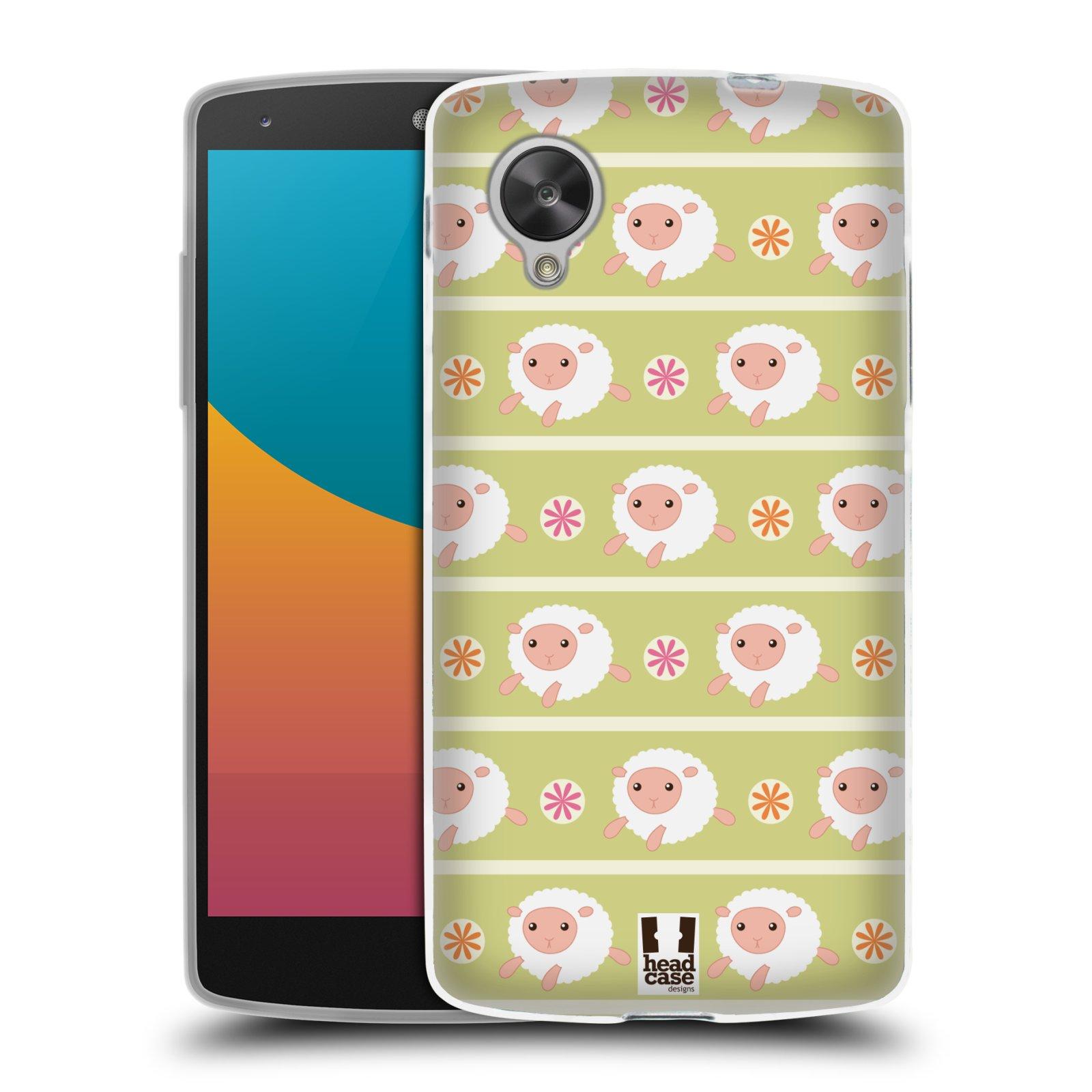 HEAD CASE silikonový obal na mobil LG NEXUS 5 (D821) vzor roztomilé zvířecí vzory ovečky
