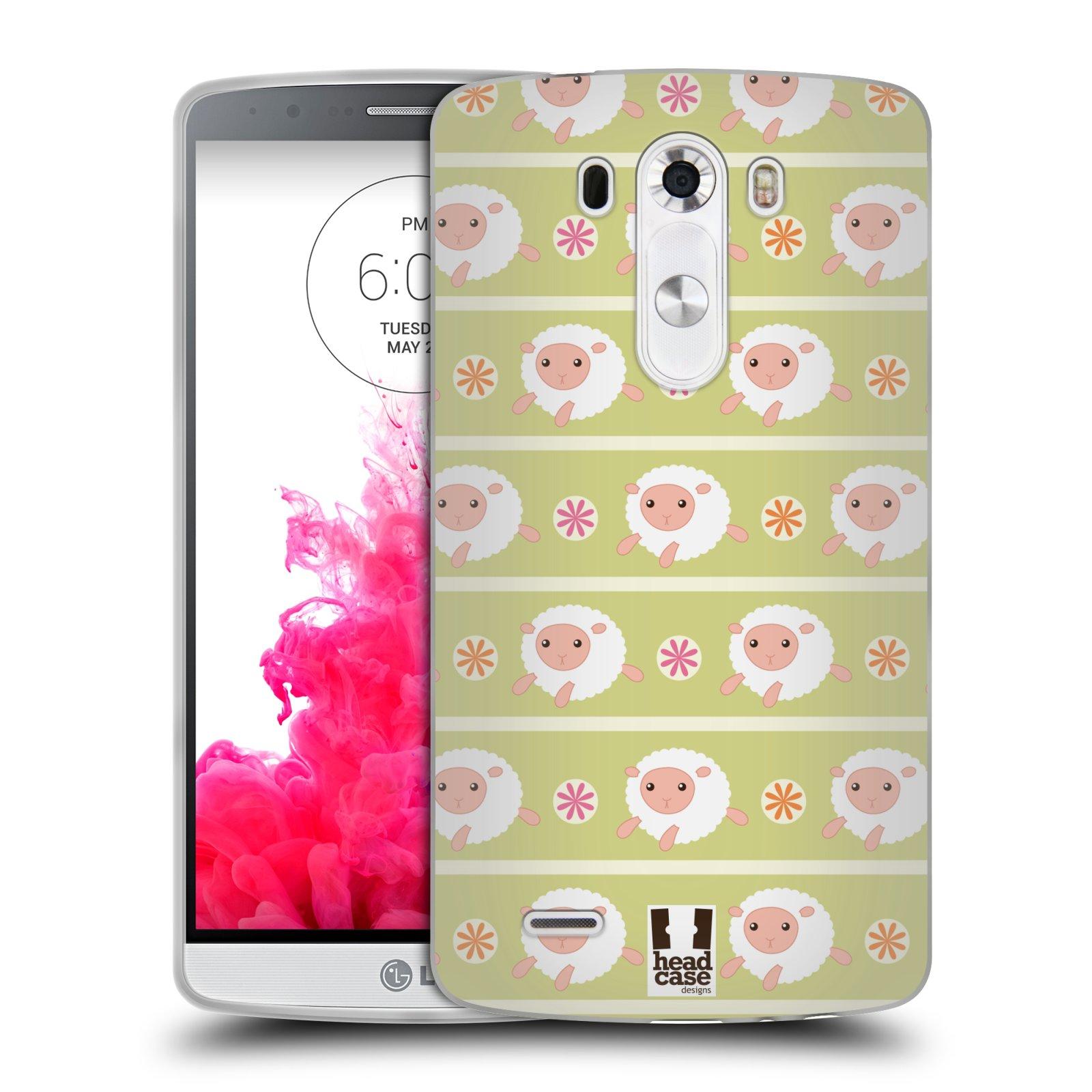 HEAD CASE silikonový obal na mobil LG G3 vzor roztomilé zvířecí vzory ovečky