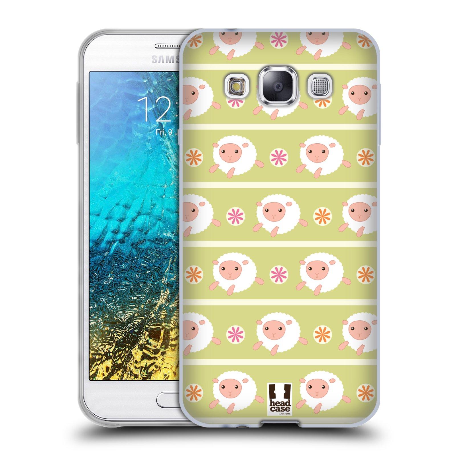 HEAD CASE silikonový obal na mobil Samsung Galaxy E5 vzor roztomilé zvířecí vzory ovečky
