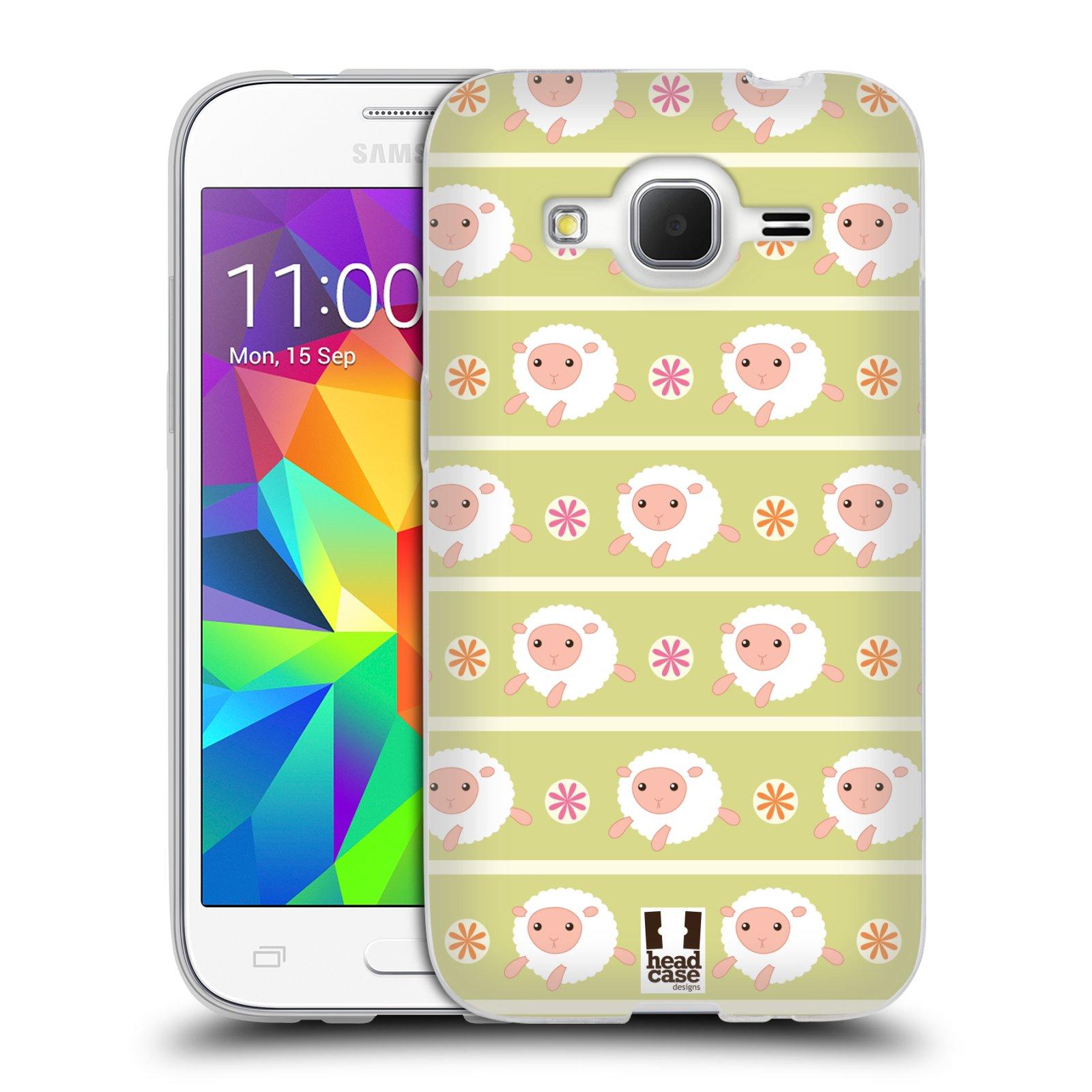 HEAD CASE silikonový obal na mobil Samsung Galaxy Core Prime (G360) vzor roztomilé zvířecí vzory ovečky
