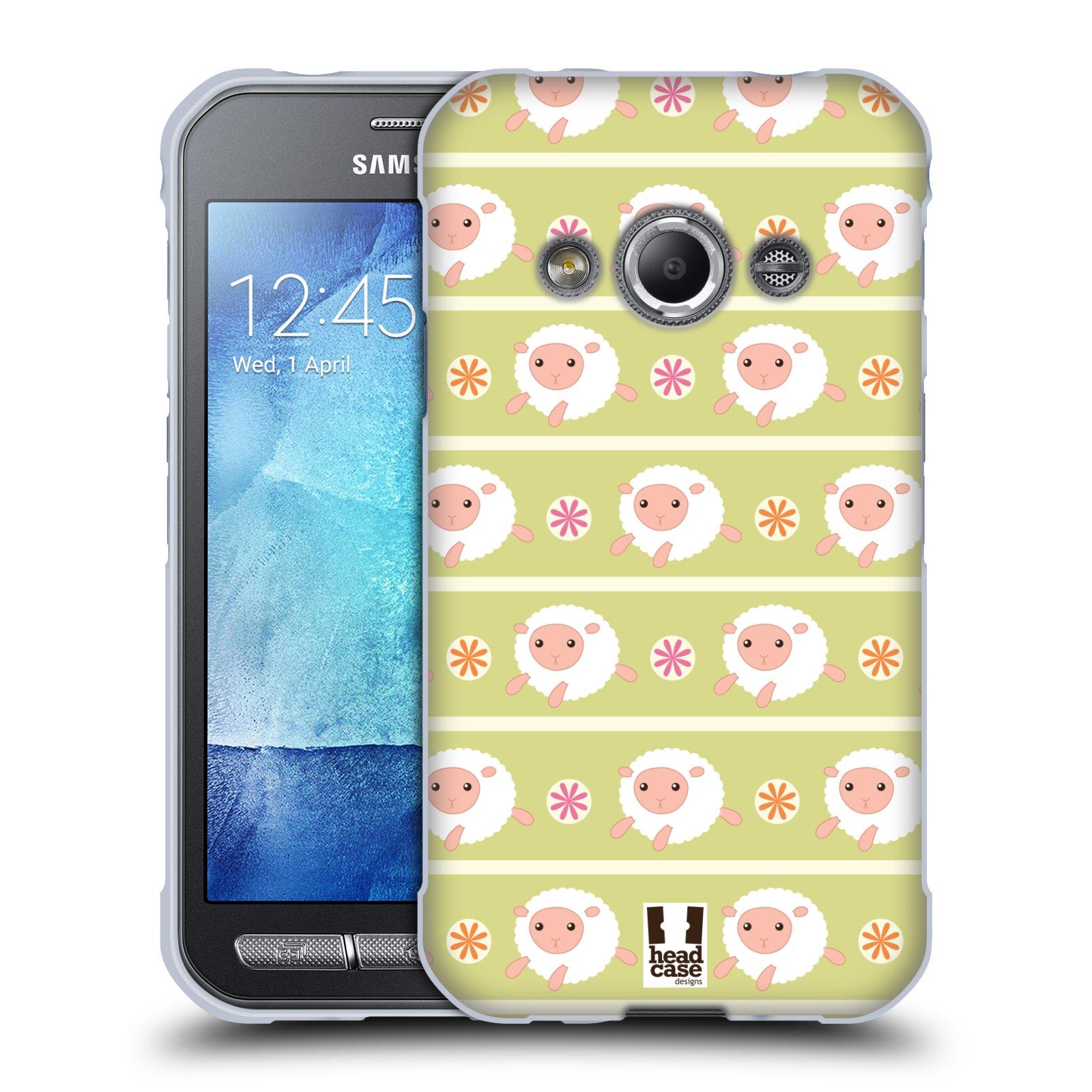 HEAD CASE silikonový obal na mobil Samsung Galaxy Xcover 3 vzor roztomilé zvířecí vzory ovečky
