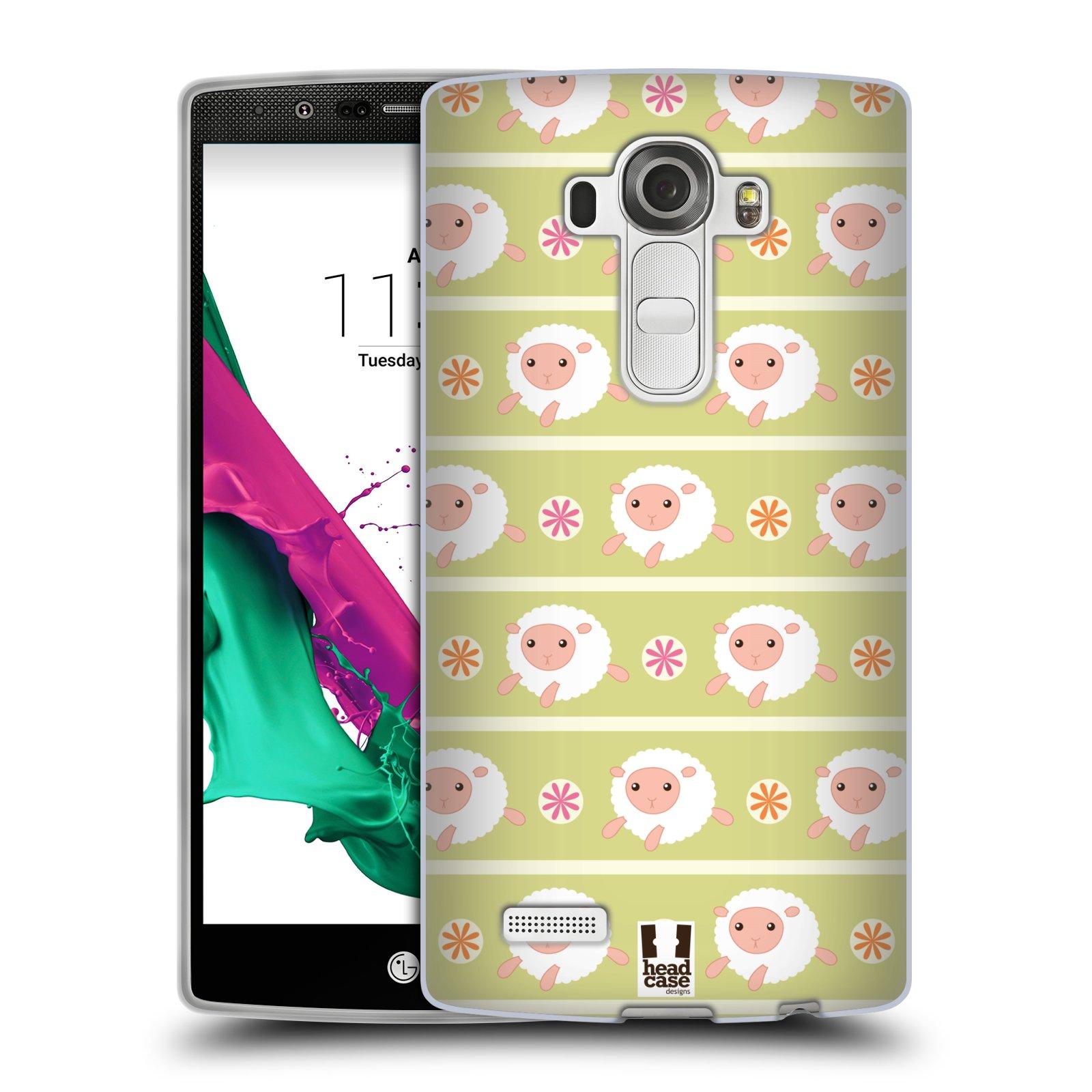 HEAD CASE silikonový obal na mobil LG G4 vzor roztomilé zvířecí vzory ovečky