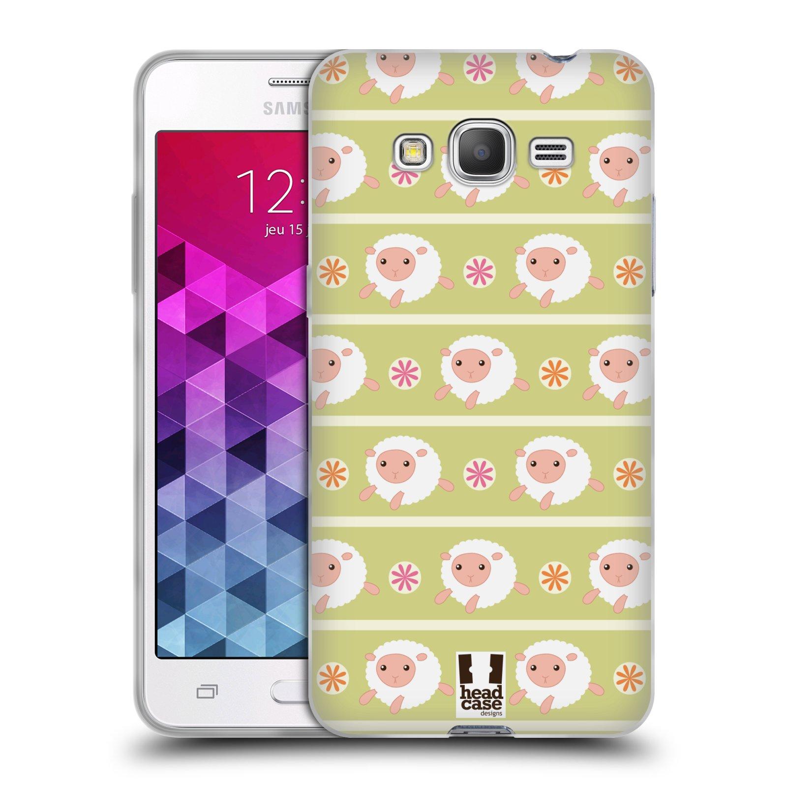 HEAD CASE silikonový obal na mobil Samsung Galaxy GRAND PRIME vzor roztomilé zvířecí vzory ovečky