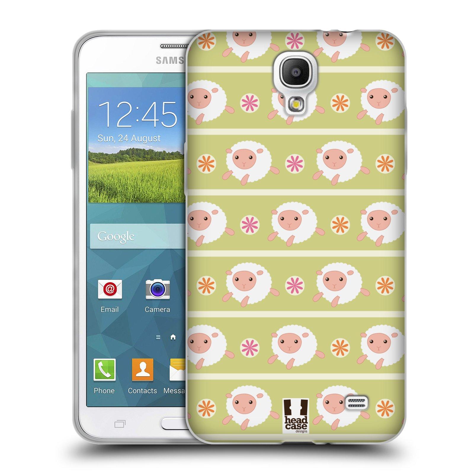 HEAD CASE silikonový obal na mobil Samsung Galaxy Mega 2 vzor roztomilé zvířecí vzory ovečky