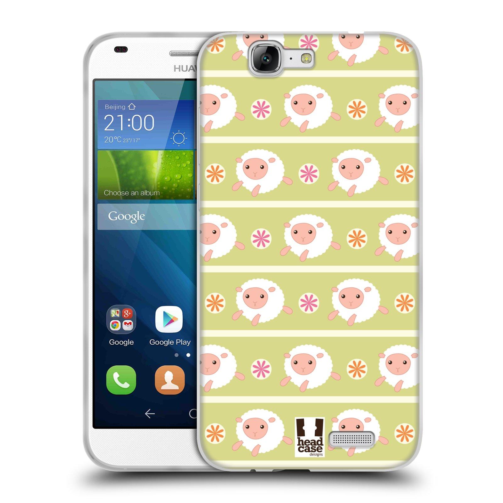 HEAD CASE silikonový obal na mobil HUAWEI Ascend G7 vzor roztomilé zvířecí vzory ovečky