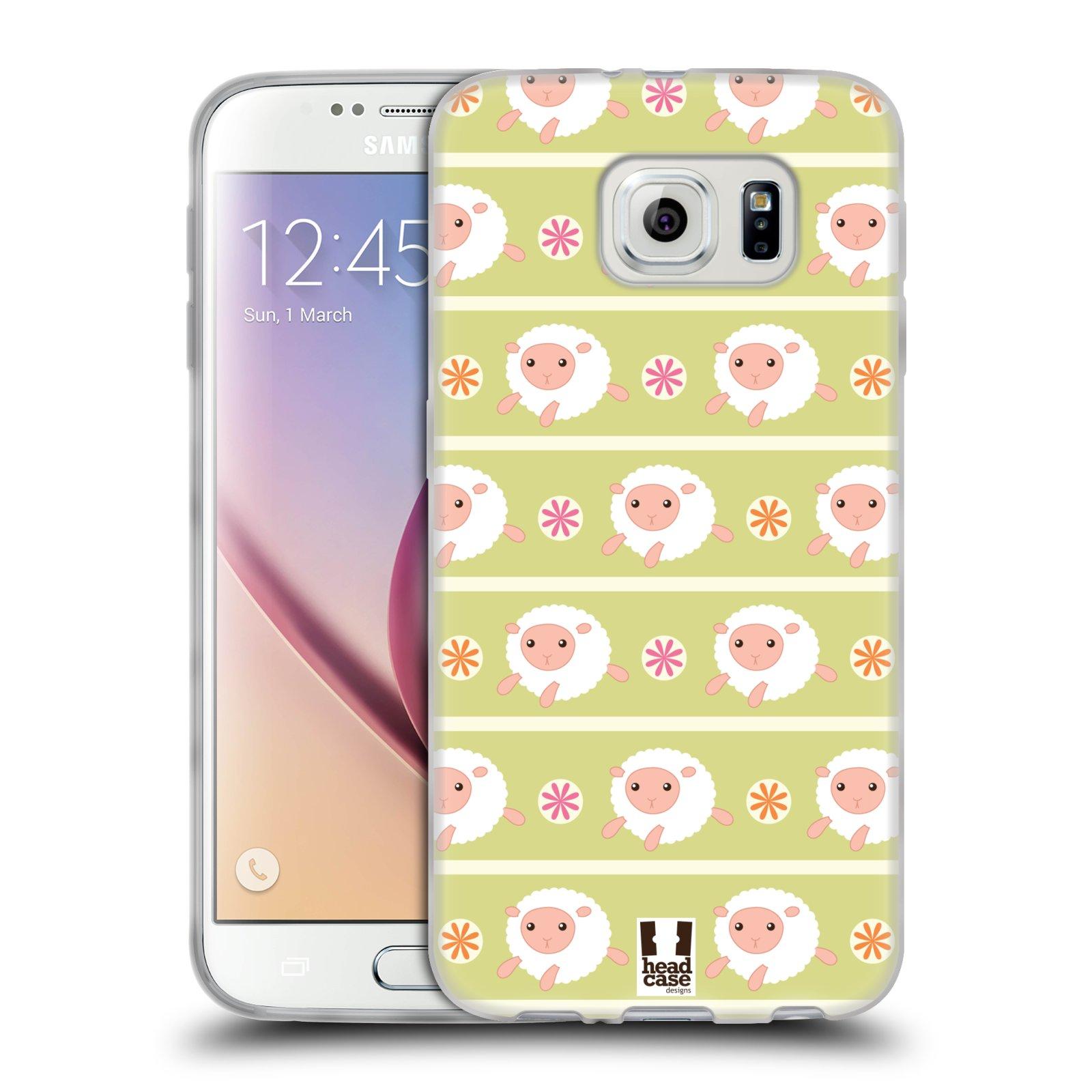 HEAD CASE silikonový obal na mobil Samsung Galaxy S6 vzor roztomilé zvířecí vzory ovečky