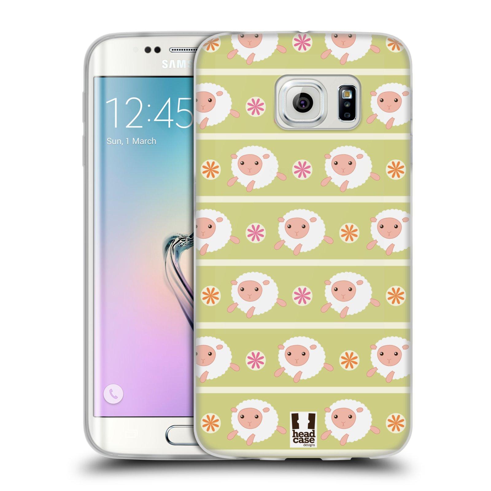 HEAD CASE silikonový obal na mobil Samsung Galaxy S6 EDGE vzor roztomilé zvířecí vzory ovečky