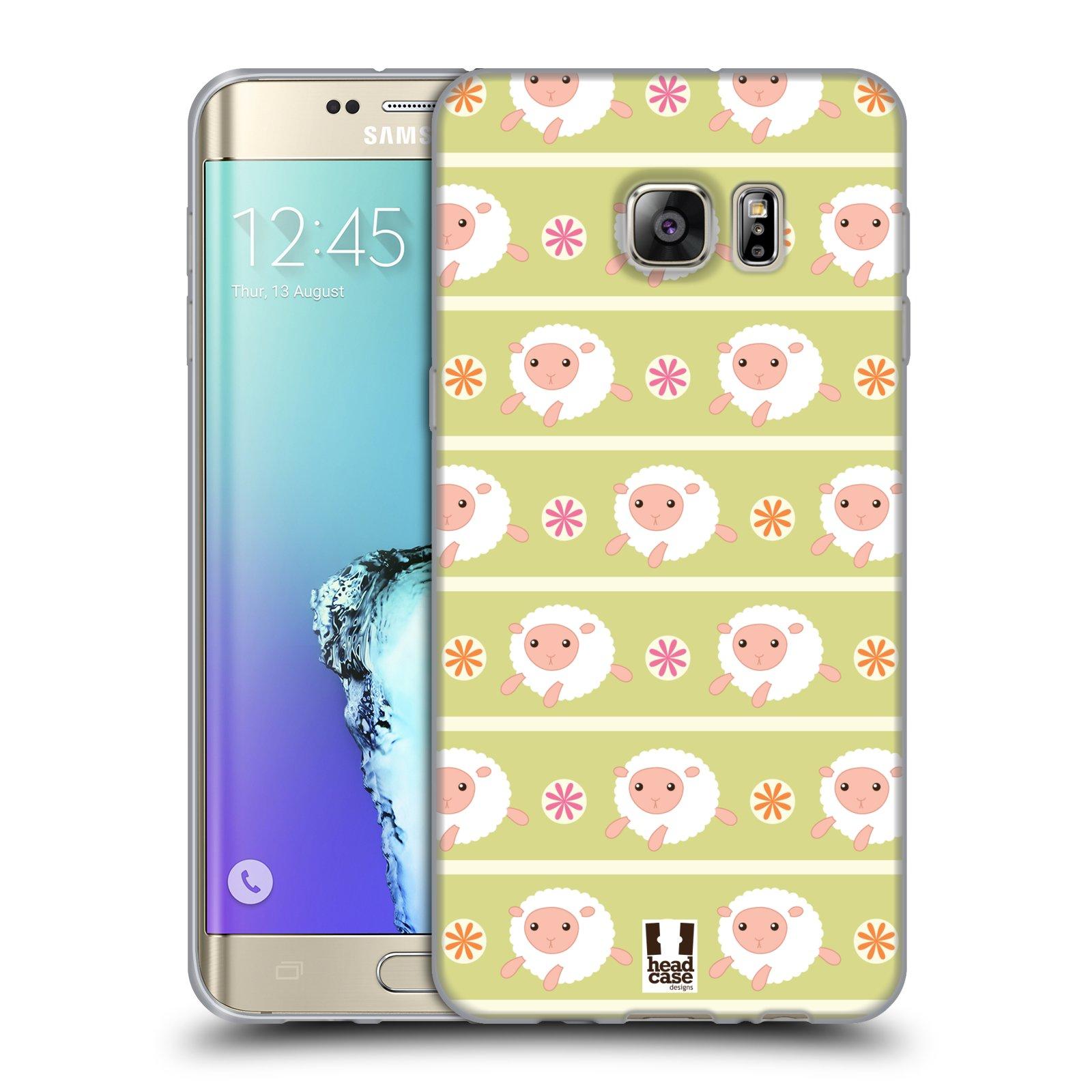 HEAD CASE silikonový obal na mobil Samsung Galaxy S6 EDGE PLUS vzor roztomilé zvířecí vzory ovečky